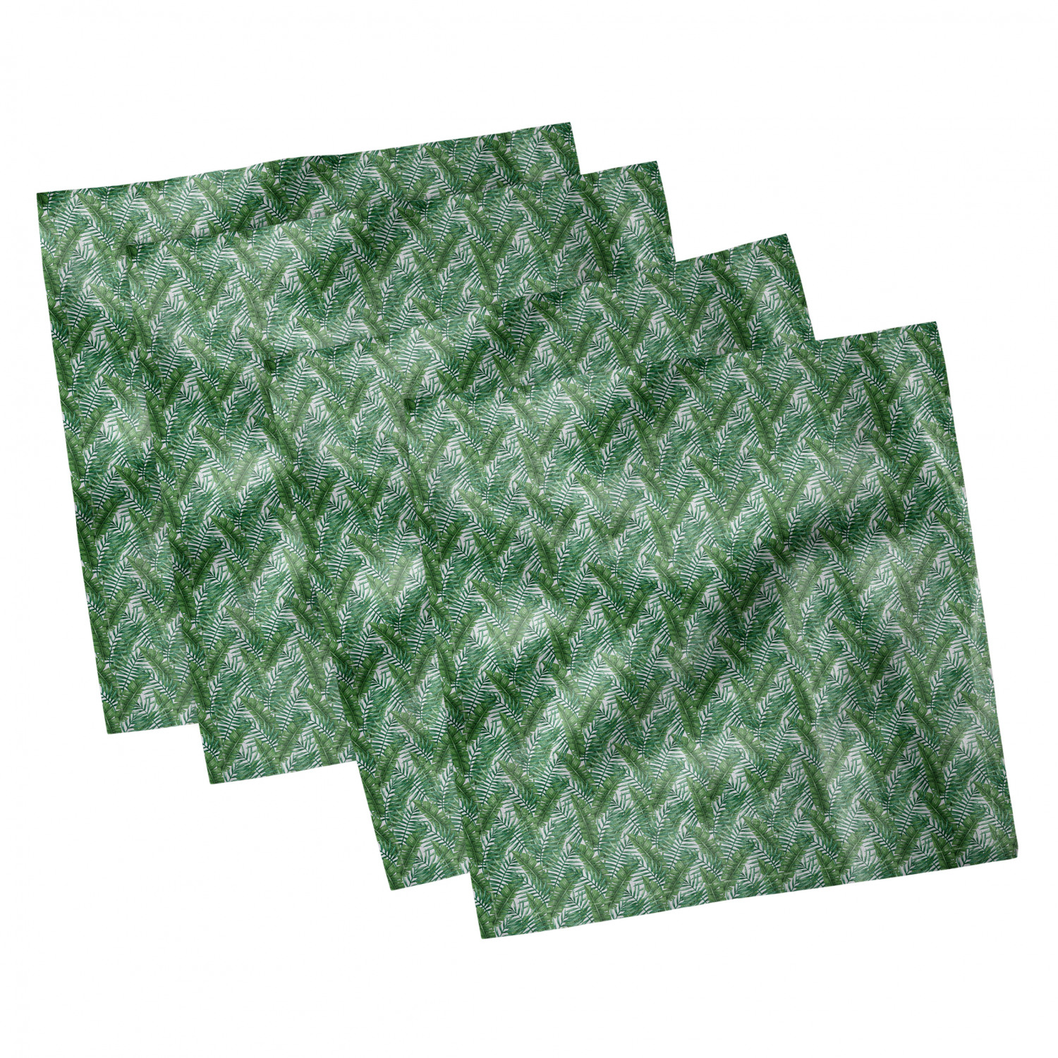 thumbnail 45 - Ambesonne-Leaves-Forest-Decorative-Satin-Napkins-Set-of-4-Party-Dinner-Fabric