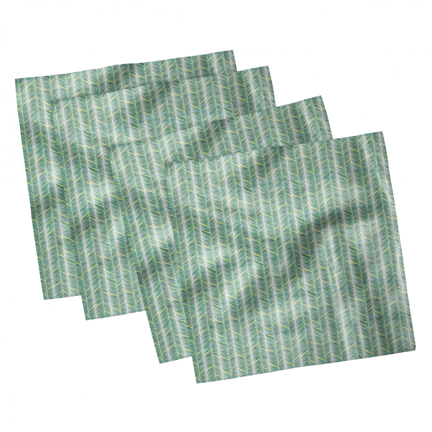 thumbnail 109 - Ambesonne-Leaves-Forest-Decorative-Satin-Napkins-Set-of-4-Party-Dinner-Fabric