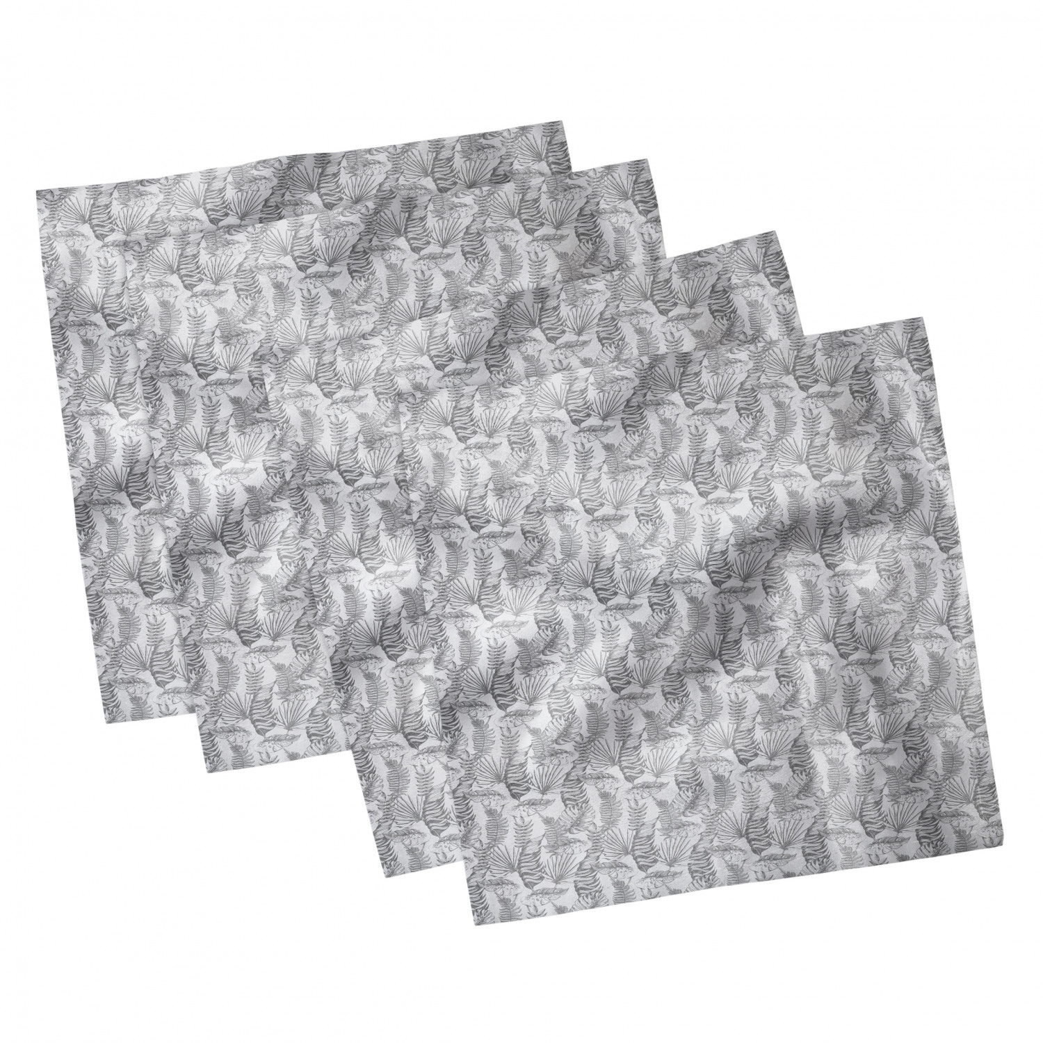thumbnail 51 - Ambesonne-Leaves-Forest-Decorative-Satin-Napkins-Set-of-4-Party-Dinner-Fabric