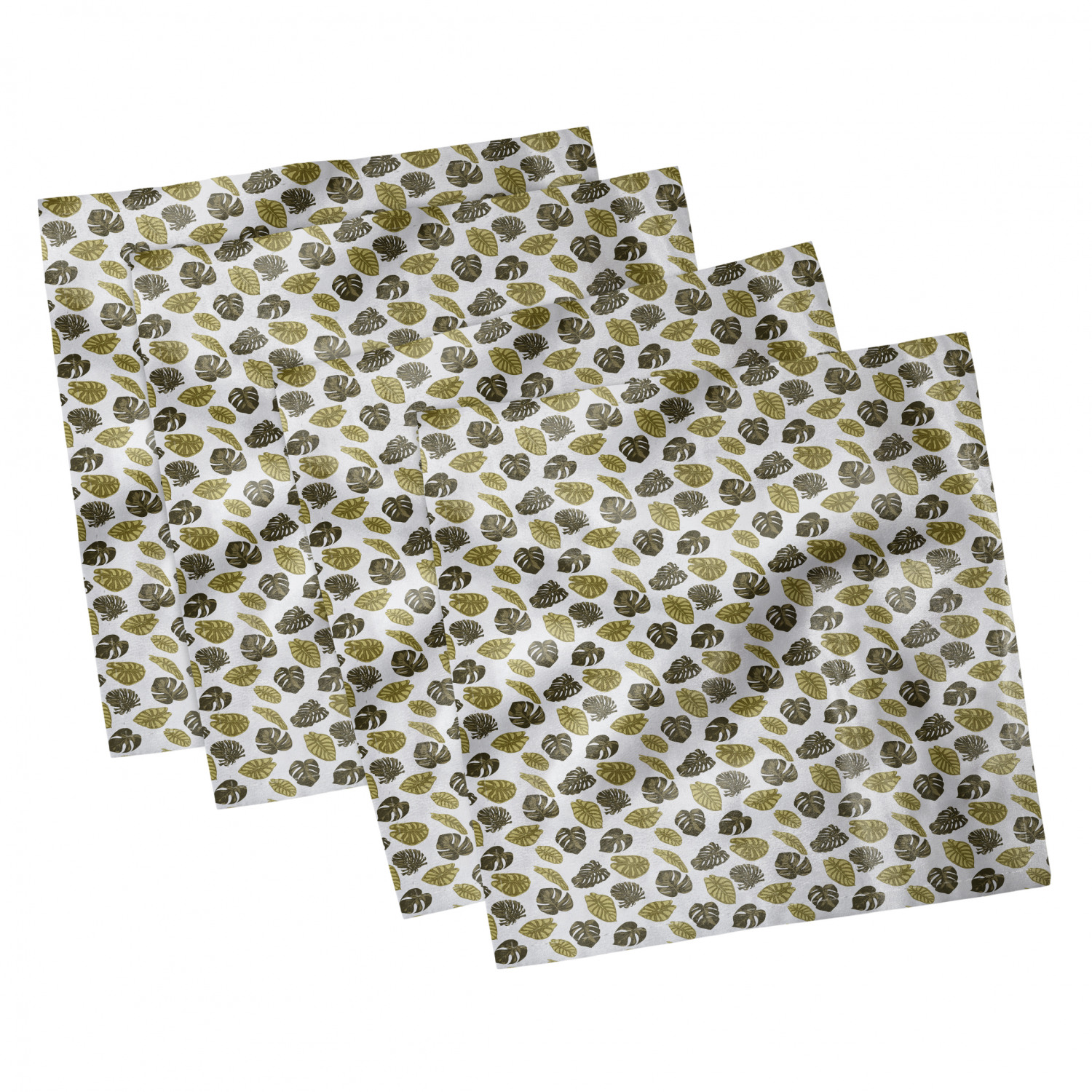 thumbnail 71 - Ambesonne-Leaves-Forest-Decorative-Satin-Napkins-Set-of-4-Party-Dinner-Fabric