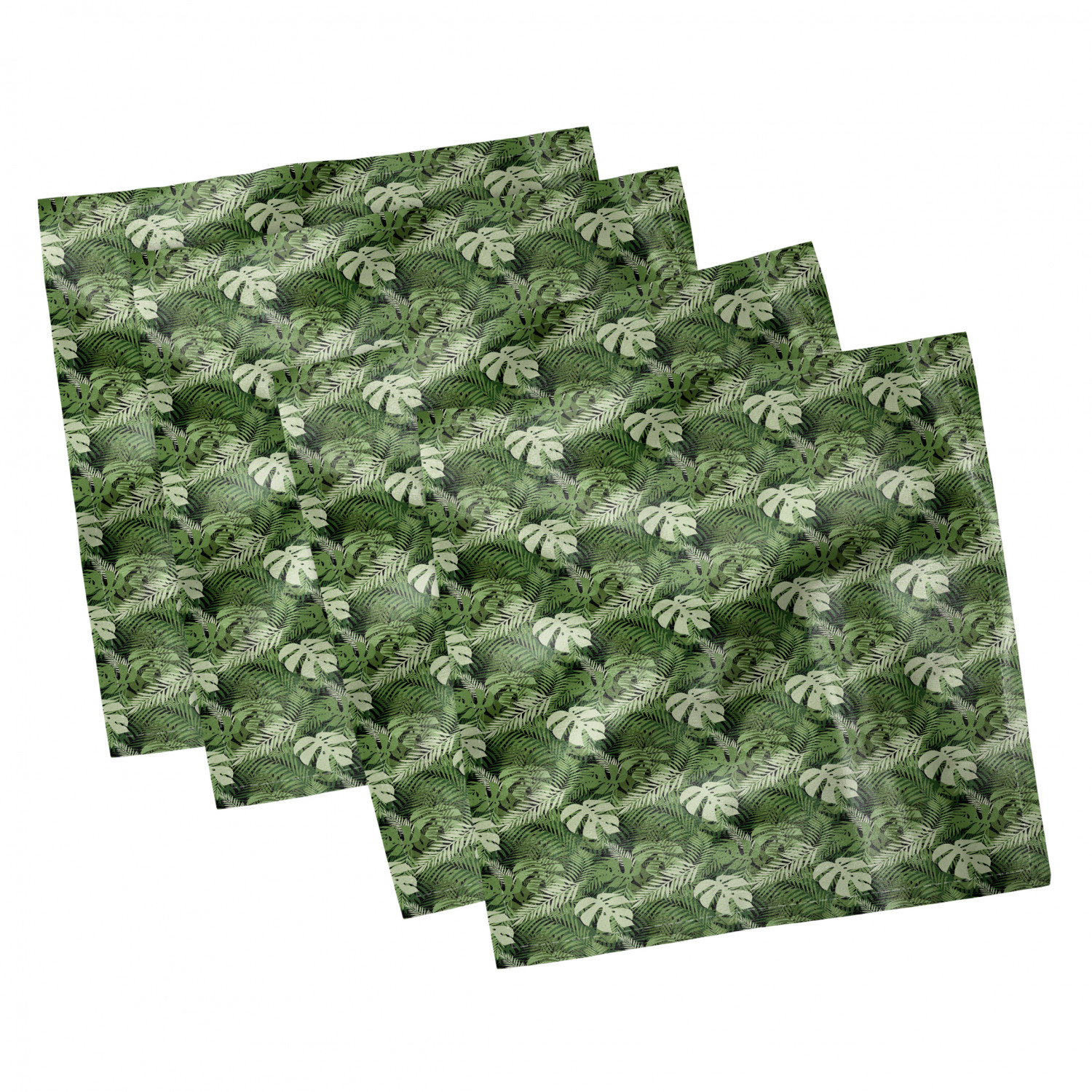 thumbnail 91 - Ambesonne-Leaves-Forest-Decorative-Satin-Napkins-Set-of-4-Party-Dinner-Fabric