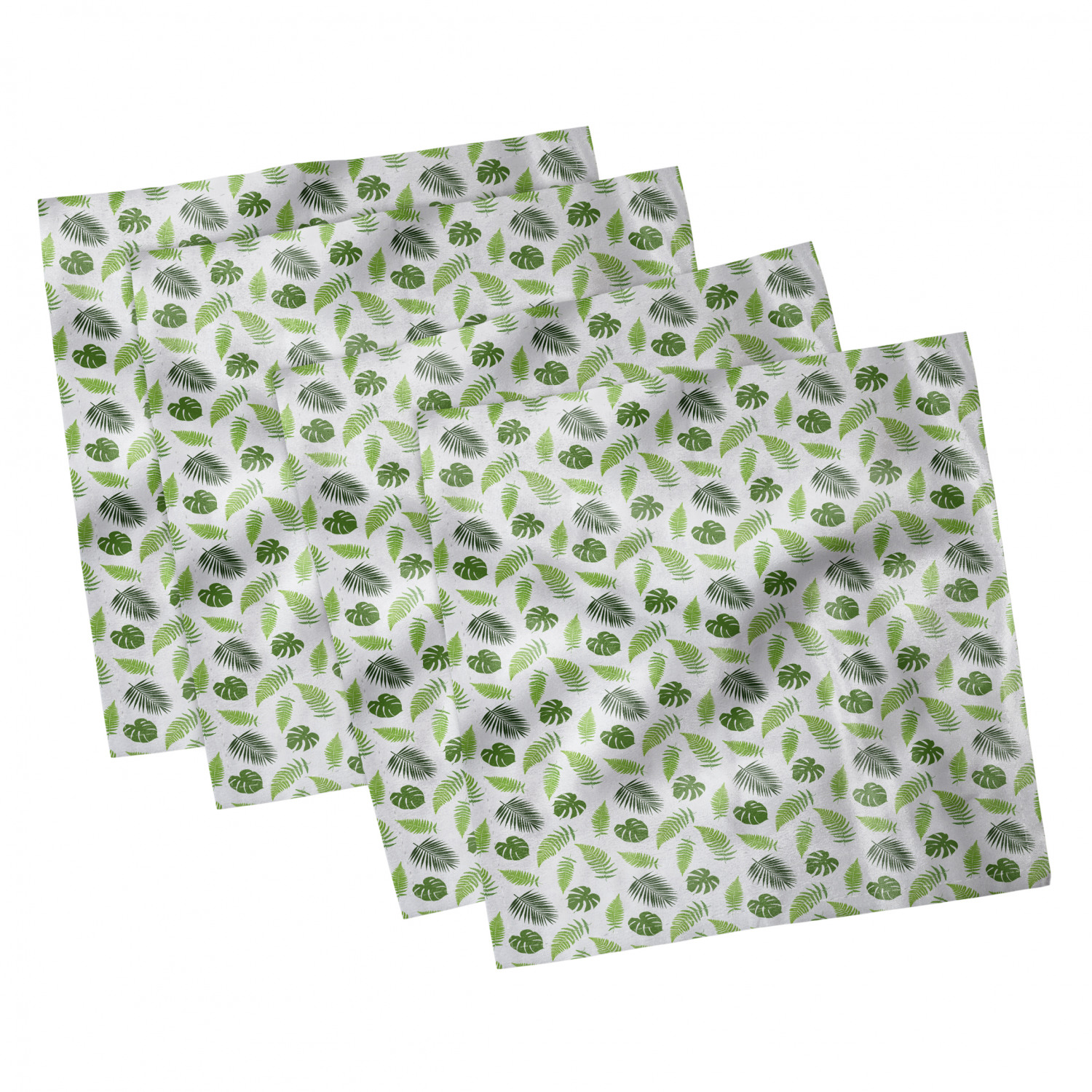 thumbnail 75 - Ambesonne-Leaves-Forest-Decorative-Satin-Napkins-Set-of-4-Party-Dinner-Fabric