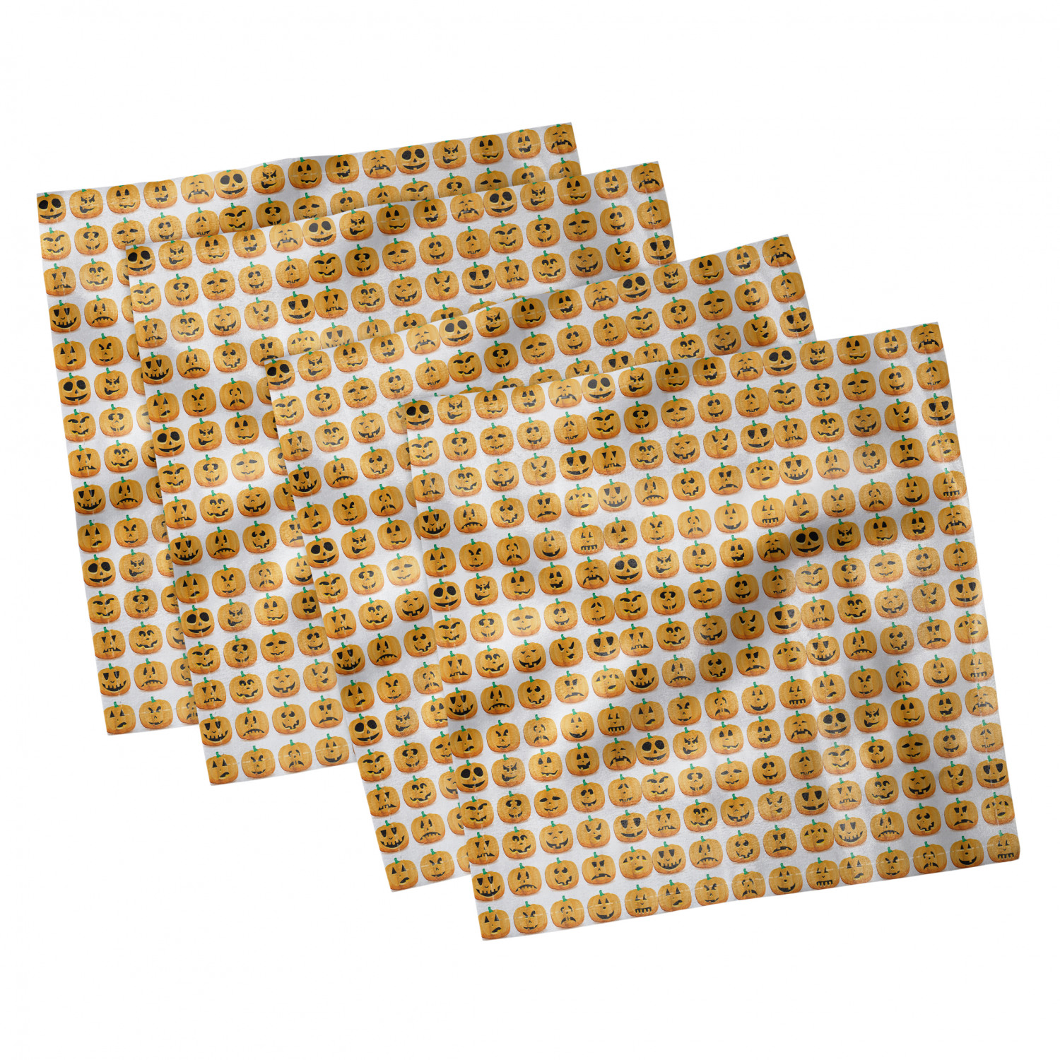 thumbnail 71 - Ambesonne-Autumn-Fall-Decorative-Satin-Napkins-Set-of-4-Party-Dinner-Fabric
