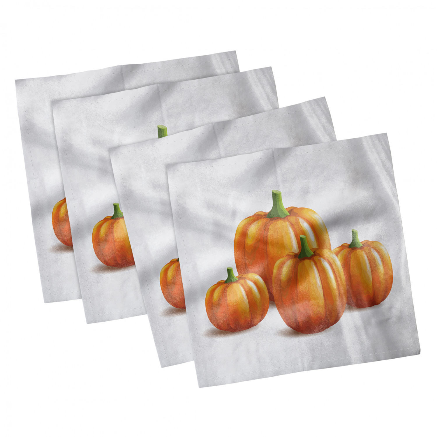thumbnail 43 - Ambesonne Autumn Fall Decorative Satin Napkins Set of 4 Party Dinner Fabric