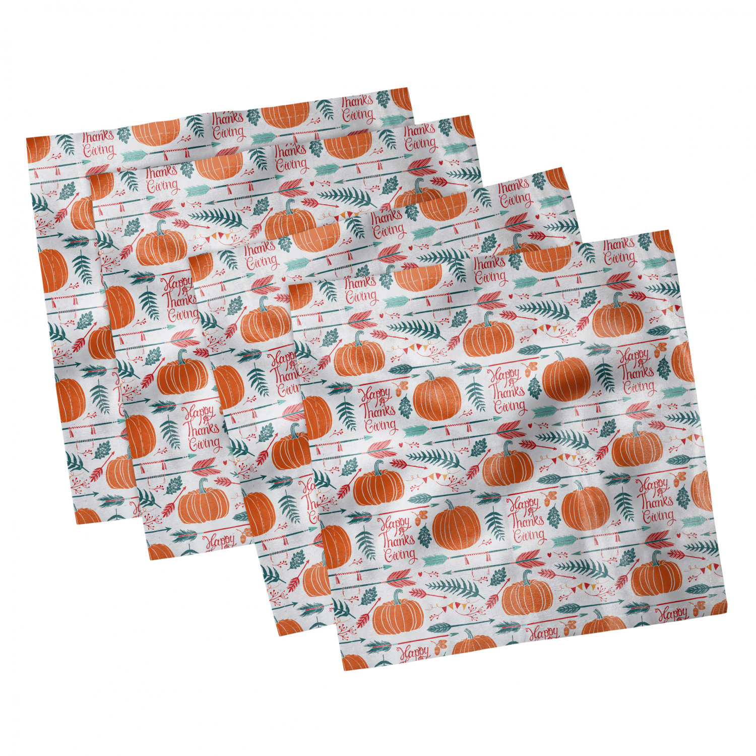 thumbnail 105 - Ambesonne Autumn Fall Decorative Satin Napkins Set of 4 Party Dinner Fabric