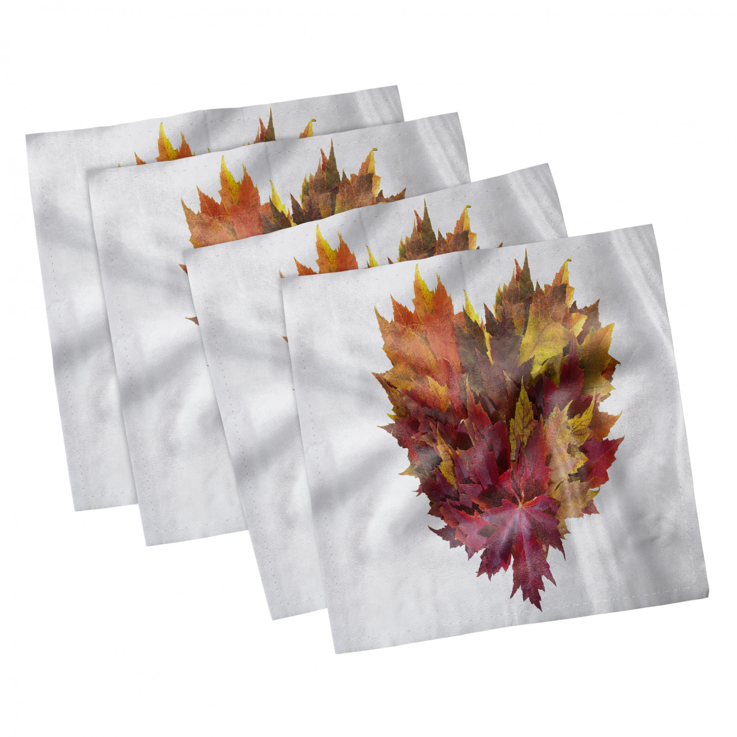thumbnail 69 - Ambesonne-Leaves-Forest-Decorative-Satin-Napkins-Set-of-4-Party-Dinner-Fabric
