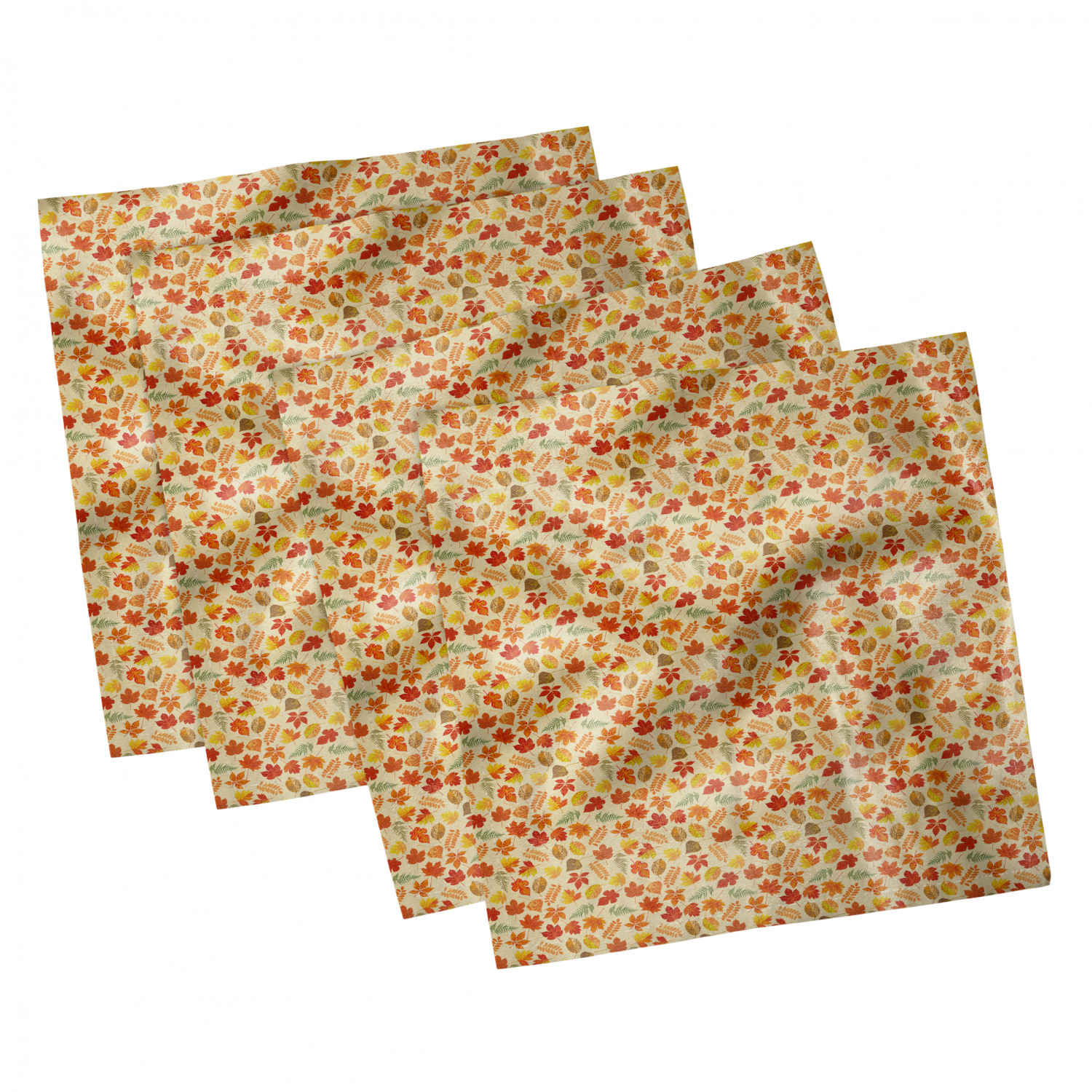 thumbnail 115 - Ambesonne-Leaves-Forest-Decorative-Satin-Napkins-Set-of-4-Party-Dinner-Fabric