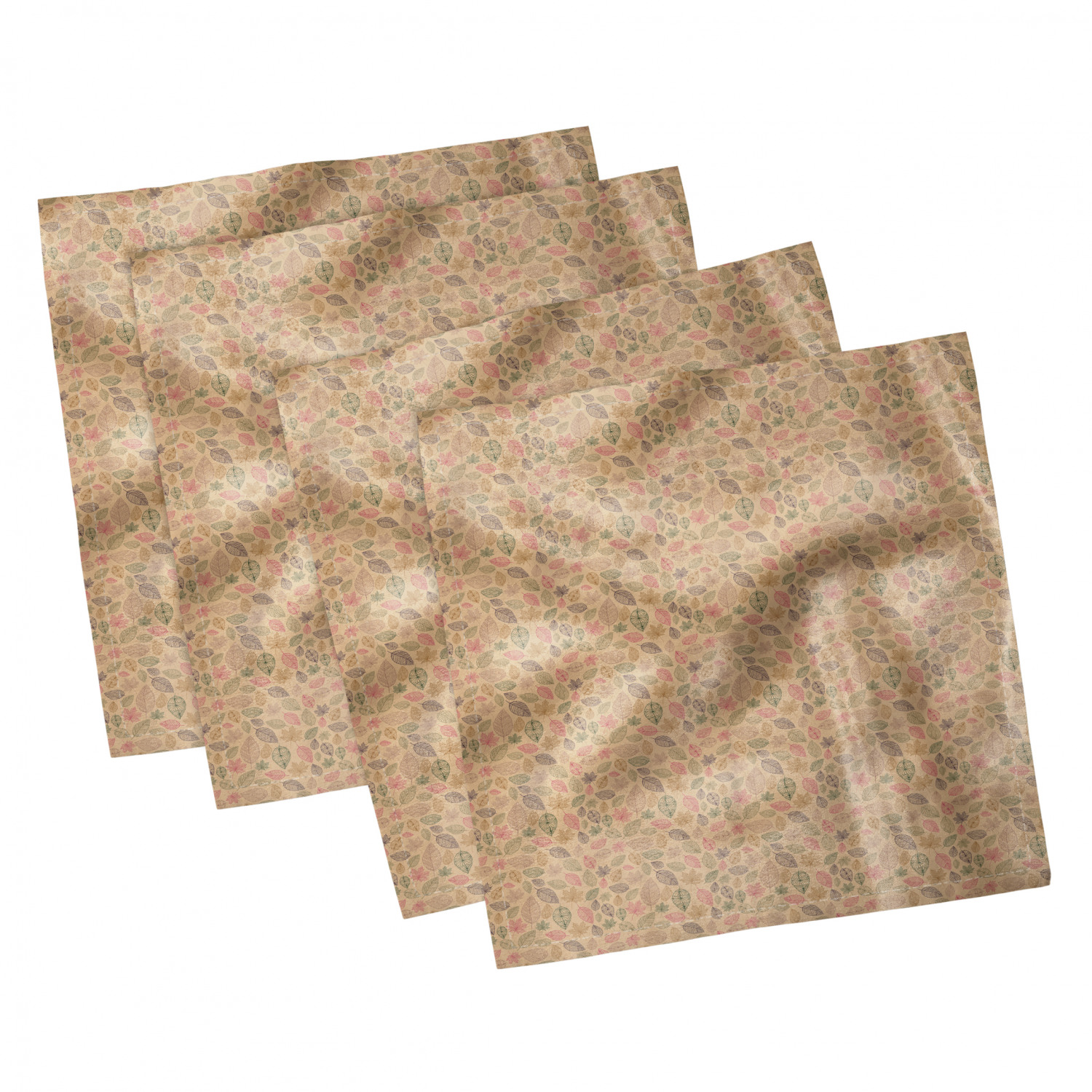 thumbnail 79 - Ambesonne-Leaves-Forest-Decorative-Satin-Napkins-Set-of-4-Party-Dinner-Fabric
