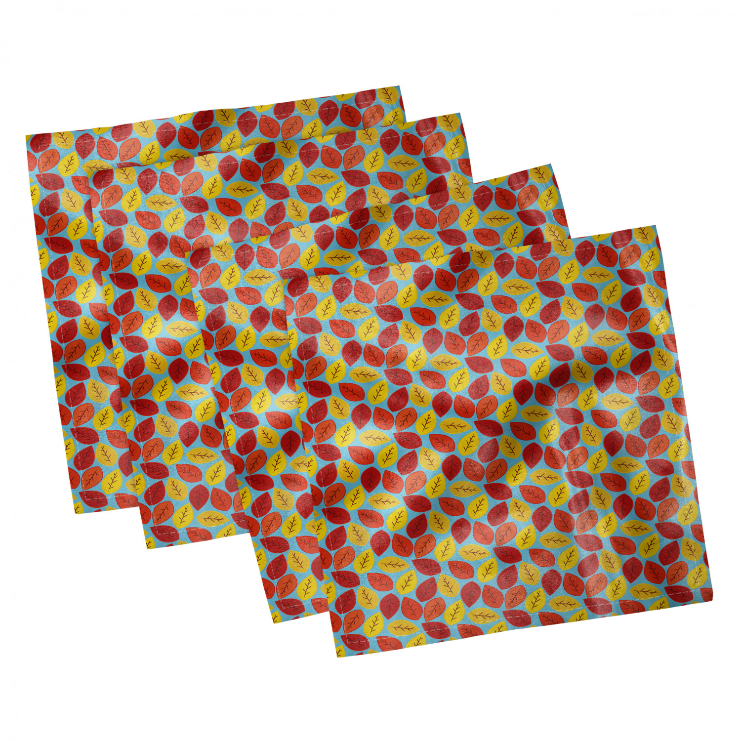 thumbnail 21 - Ambesonne-Leaves-Forest-Decorative-Satin-Napkins-Set-of-4-Party-Dinner-Fabric