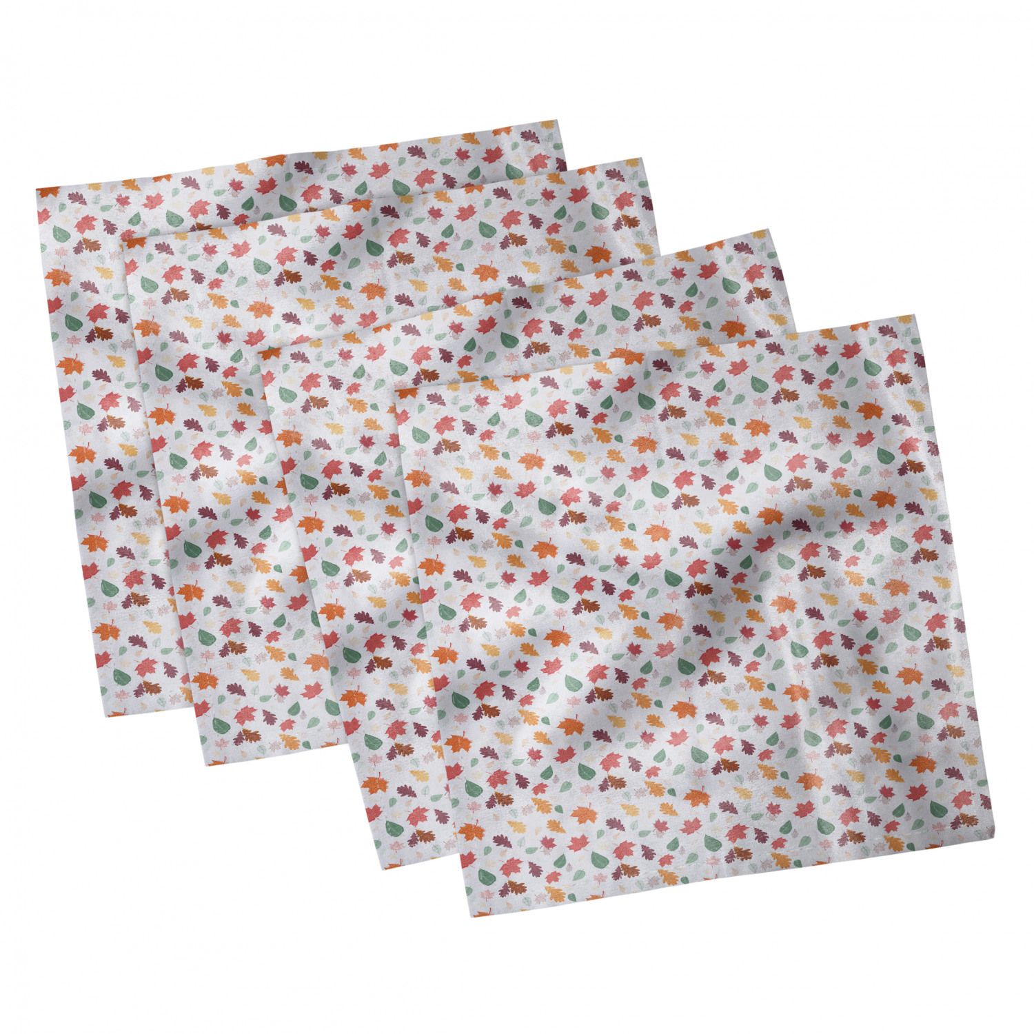 thumbnail 7 - Ambesonne-Leaves-Forest-Decorative-Satin-Napkins-Set-of-4-Party-Dinner-Fabric