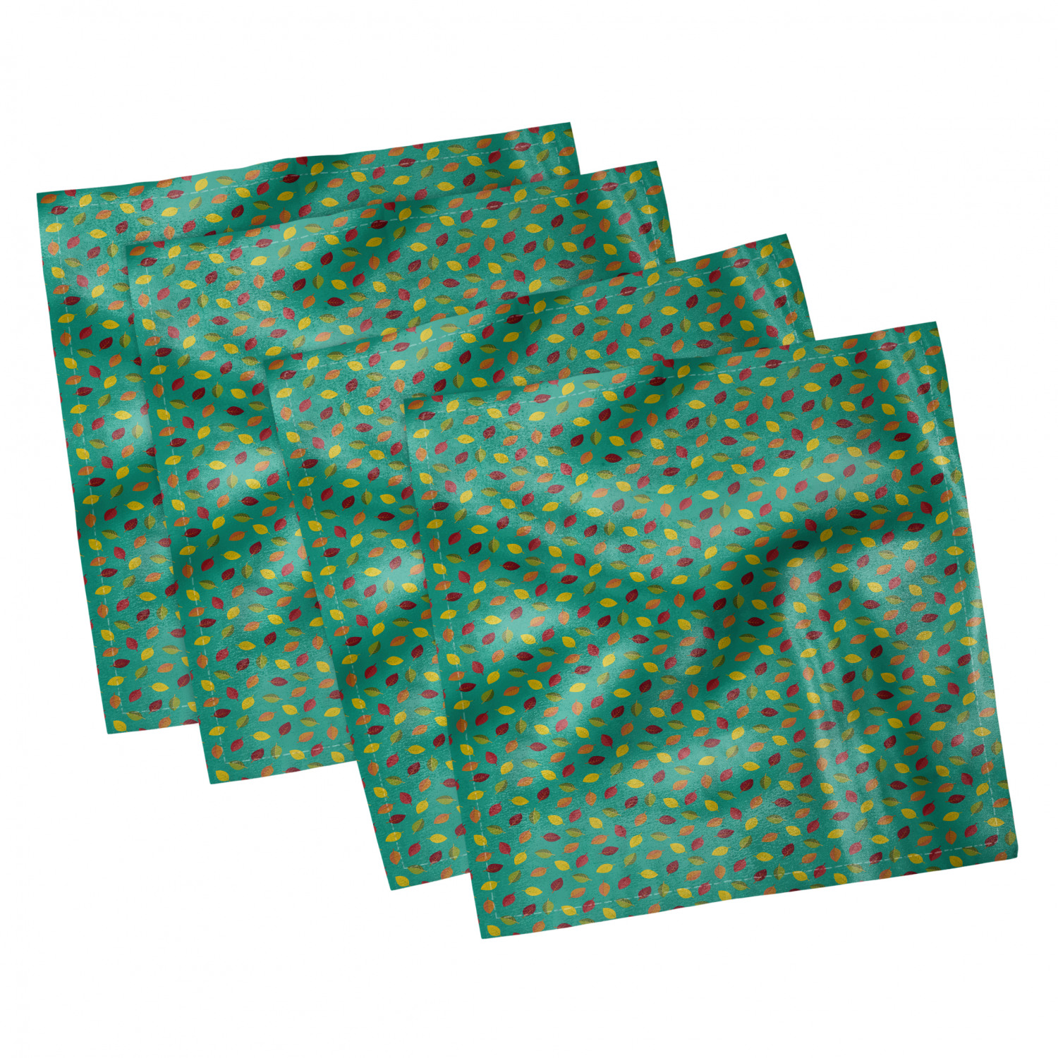thumbnail 31 - Ambesonne-Leaves-Forest-Decorative-Satin-Napkins-Set-of-4-Party-Dinner-Fabric