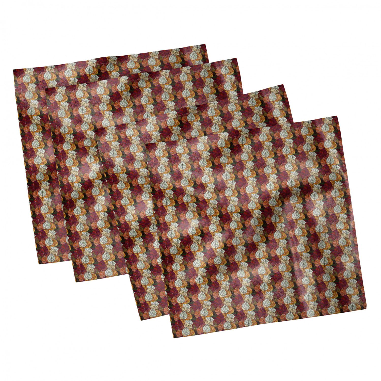 thumbnail 105 - Ambesonne-Leaves-Forest-Decorative-Satin-Napkins-Set-of-4-Party-Dinner-Fabric