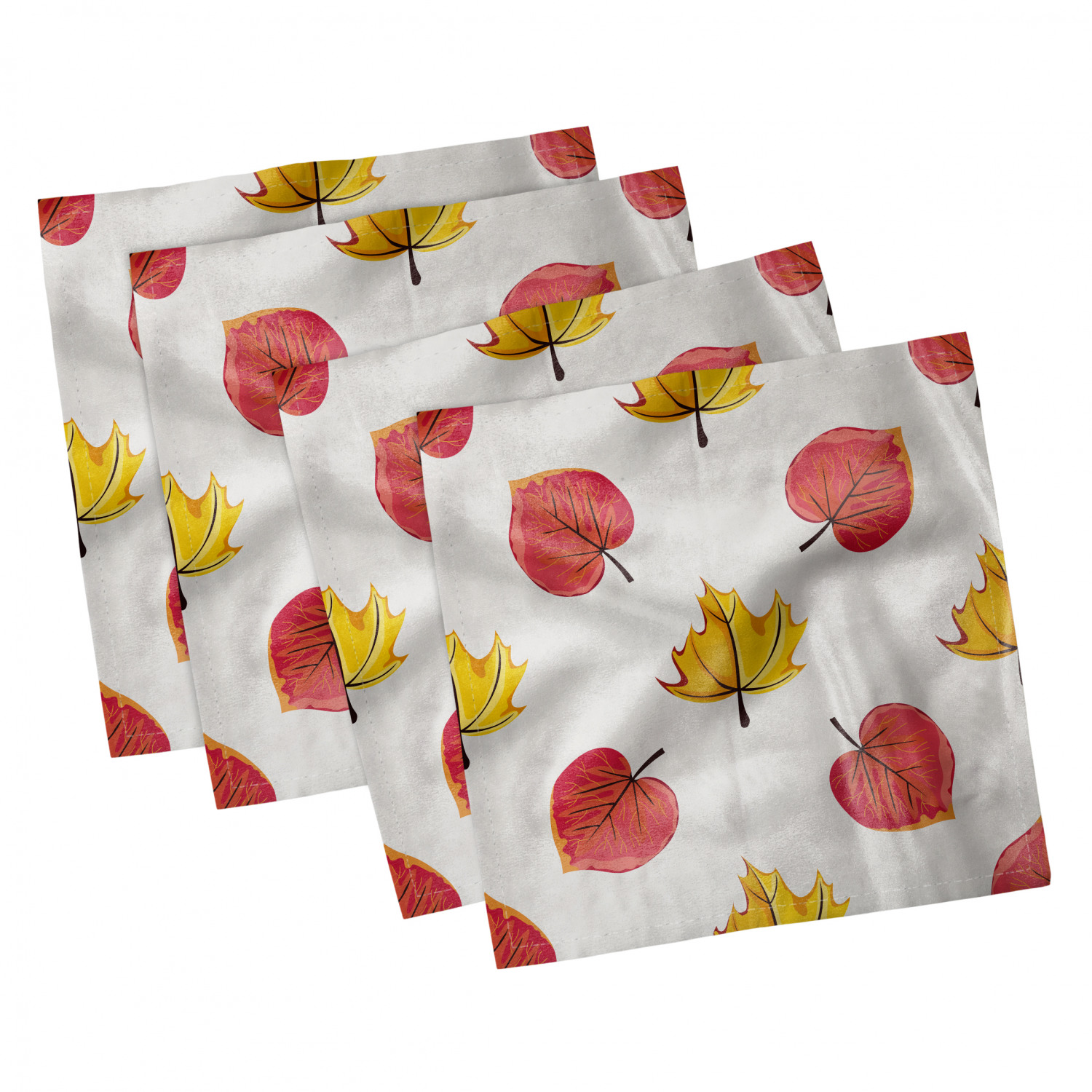 thumbnail 63 - Ambesonne-Leaves-Forest-Decorative-Satin-Napkins-Set-of-4-Party-Dinner-Fabric