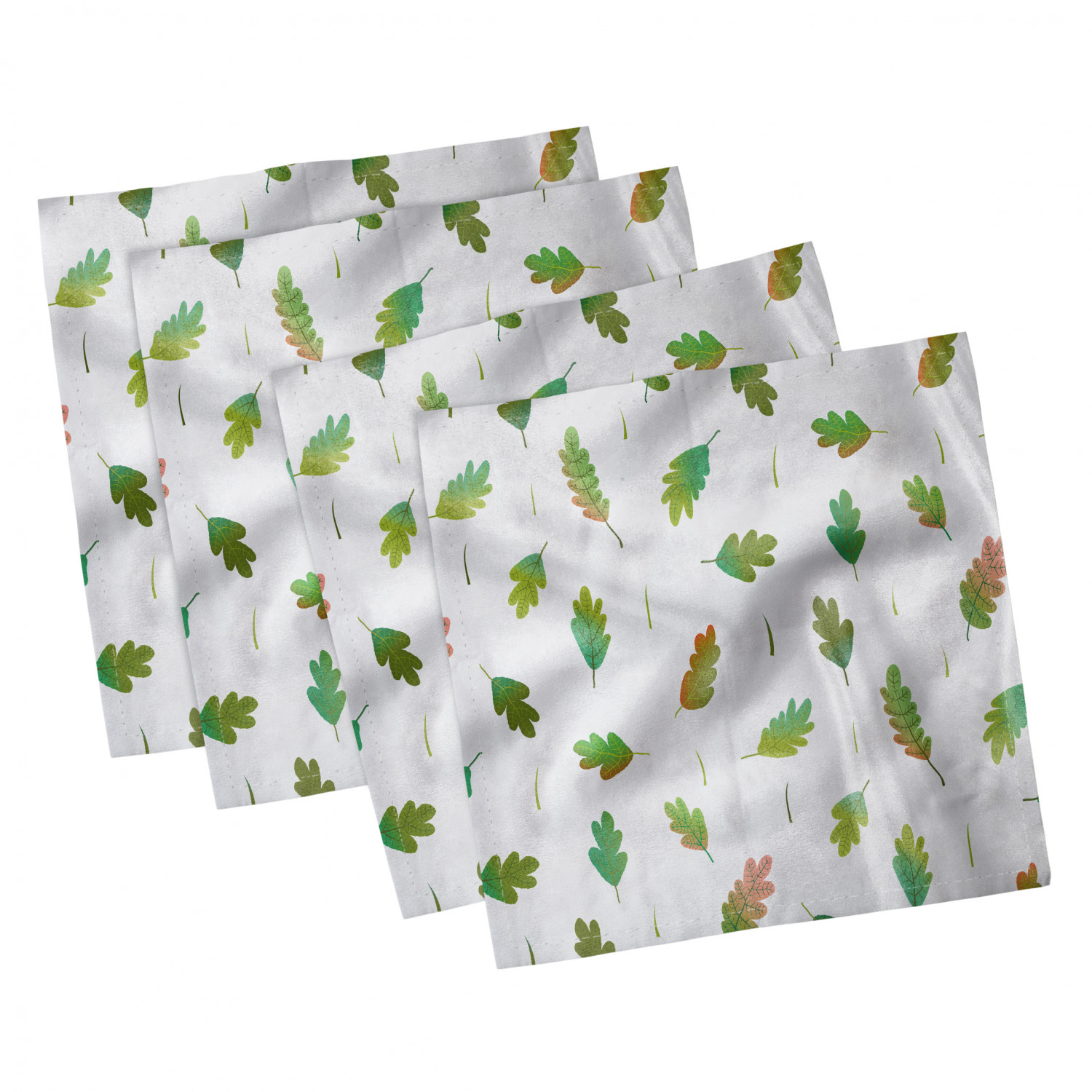 thumbnail 93 - Ambesonne-Leaves-Forest-Decorative-Satin-Napkins-Set-of-4-Party-Dinner-Fabric