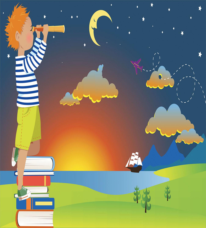 Abenteuer Bettwäsche Set Boy Mit Blick auf den Himmel