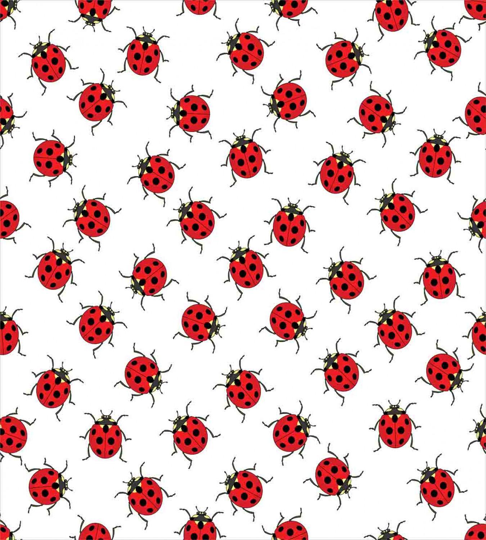 Kids Duvet Cover Set With Pillow Shams Cute Ladybugs Patterns