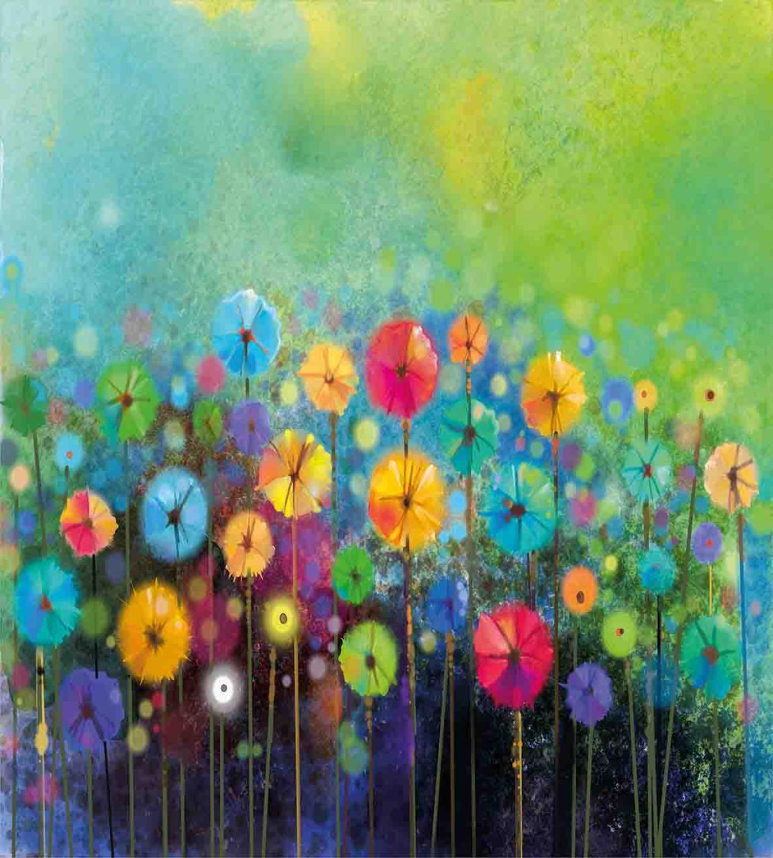 Floral-Duvet-Cover-Set-with-Pillow-Shams-Colorful-Dandelions-Print thumbnail 3