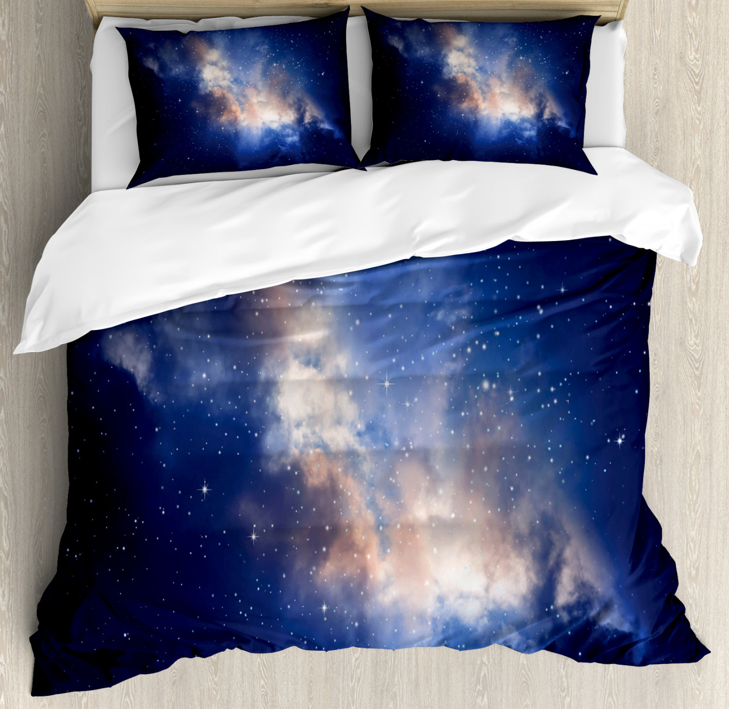 Galaxy Duvet Cover Set with Pillow Shams Immense Space Hole View Print