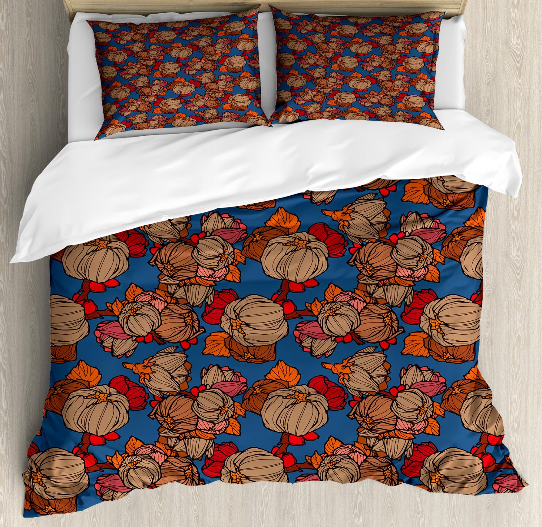 Floral Duvet Cover Set with Pillow Shams Funk Art Flower Pattern Print