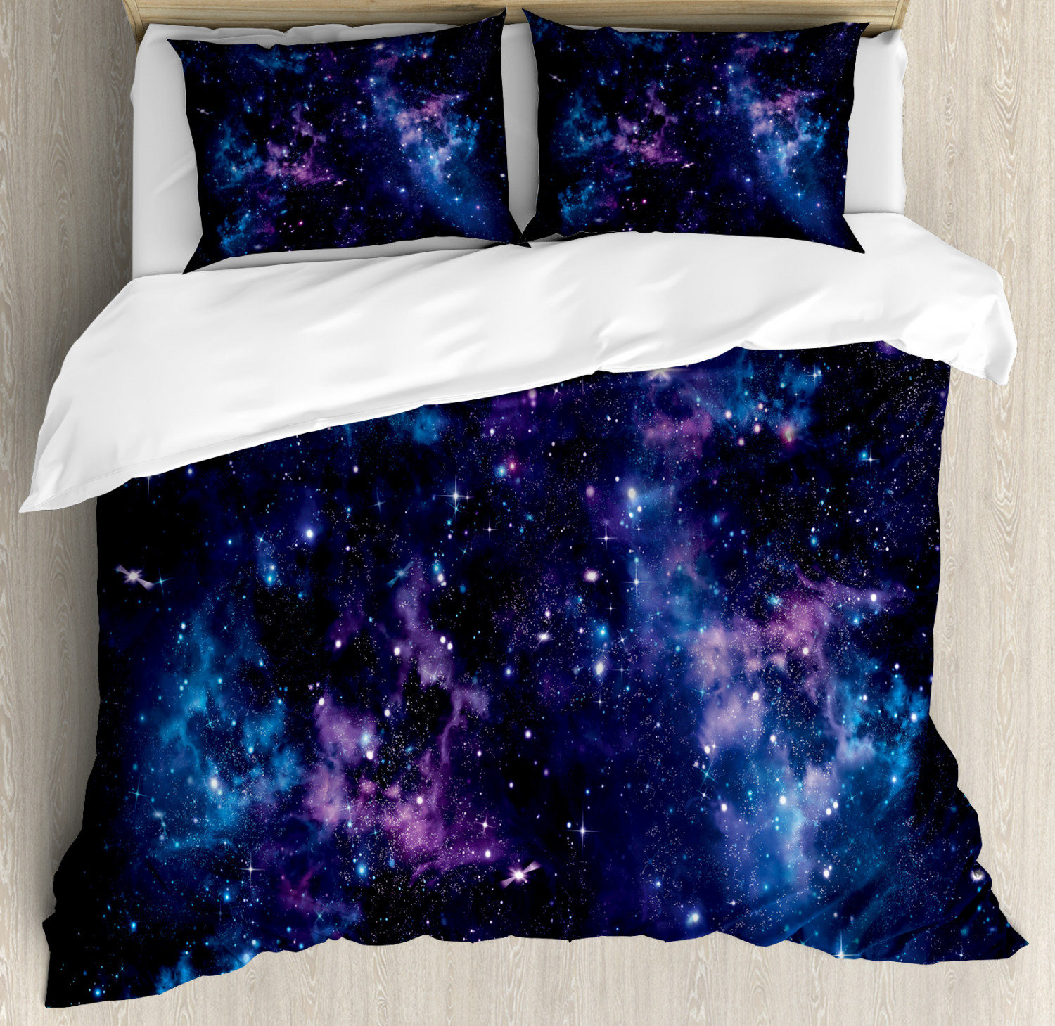 Psychedelic Quilted Bedspread /& Pillow Shams Set Asia Mystic Symbol Print