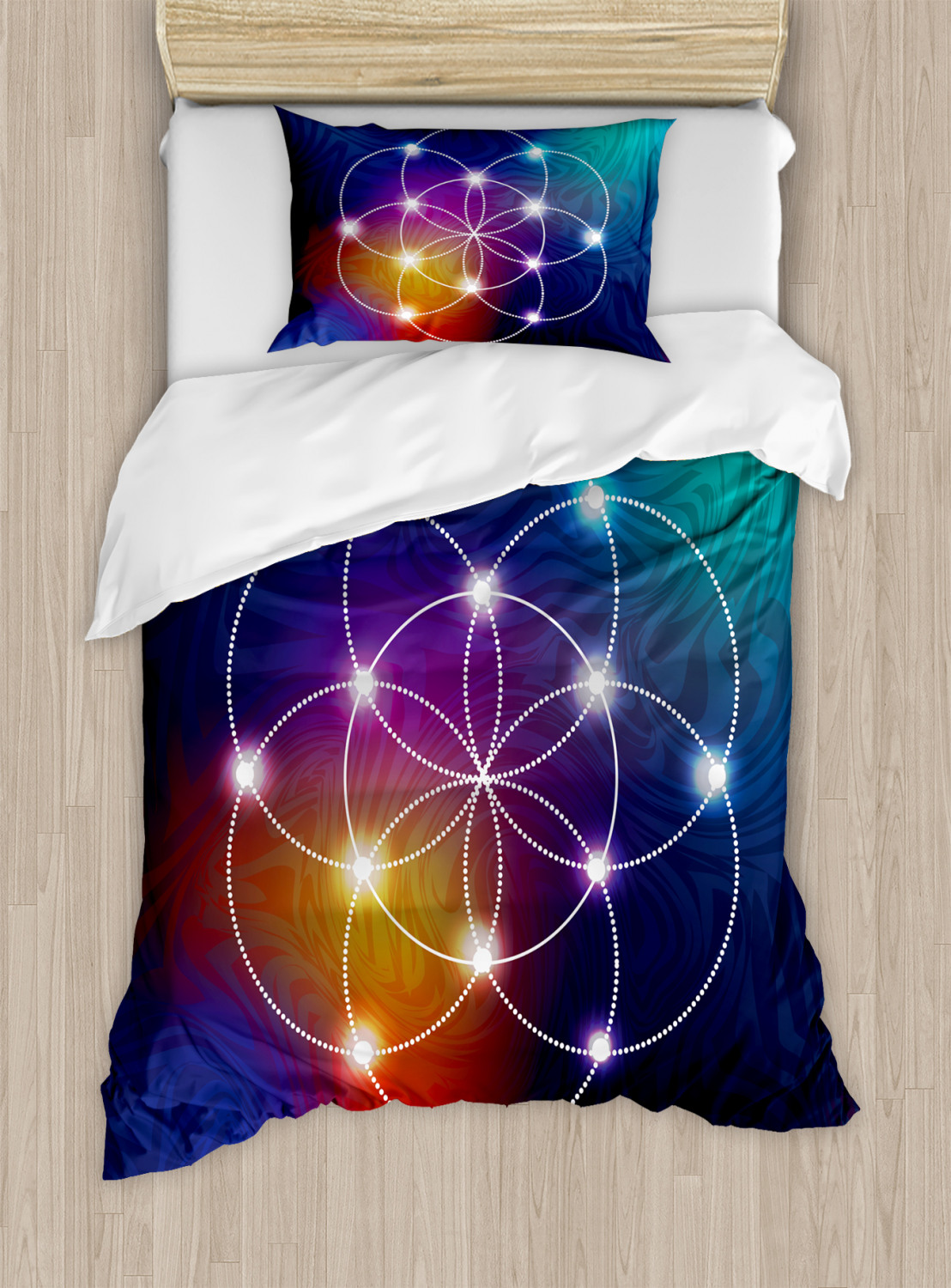 Flower-of-Life-Duvet-Cover-Set-Twin-Queen-King-Sizes-with-Pillow-Shams thumbnail 19