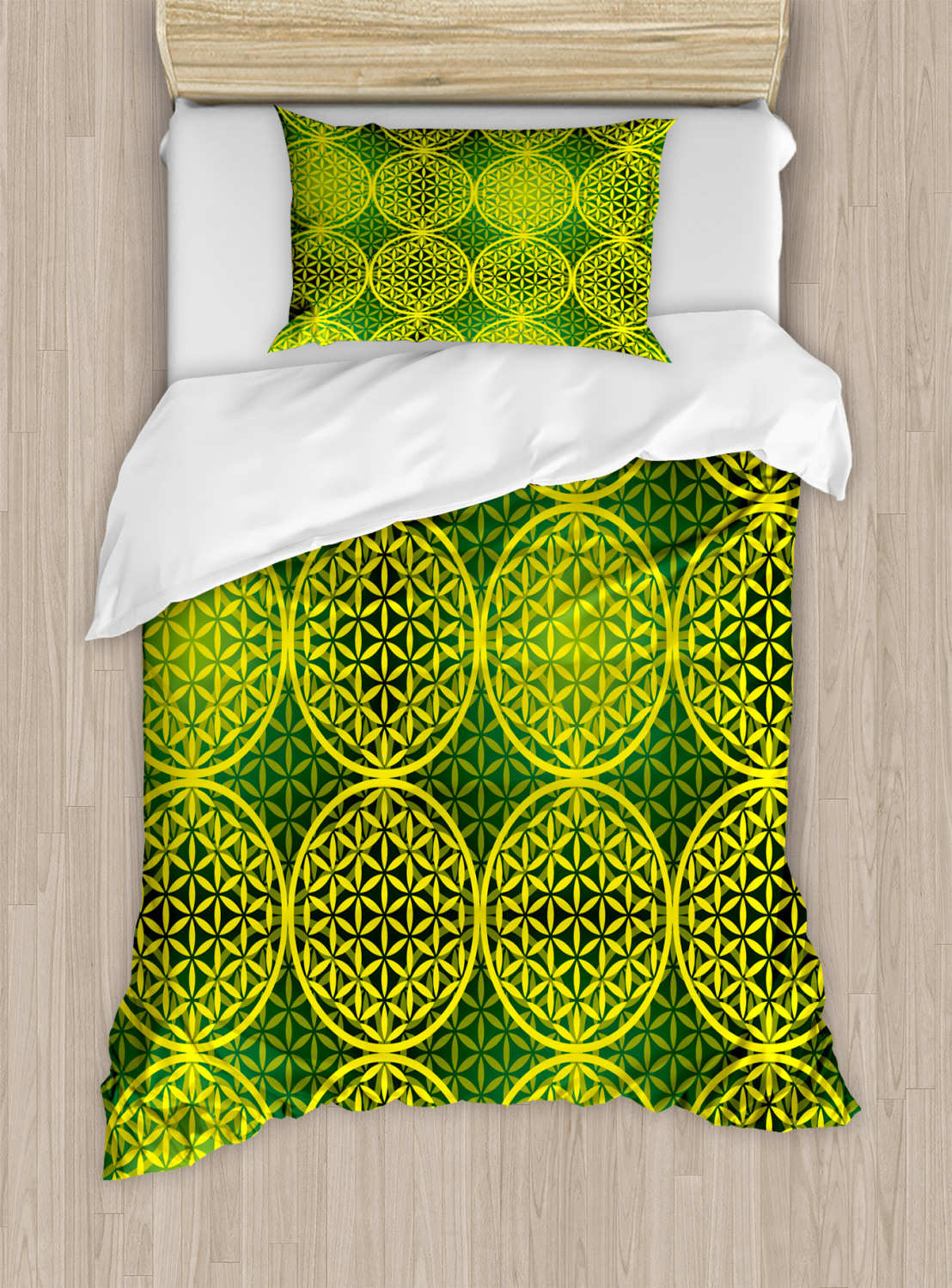 Flower-of-Life-Duvet-Cover-Set-Twin-Queen-King-Sizes-with-Pillow-Shams thumbnail 52