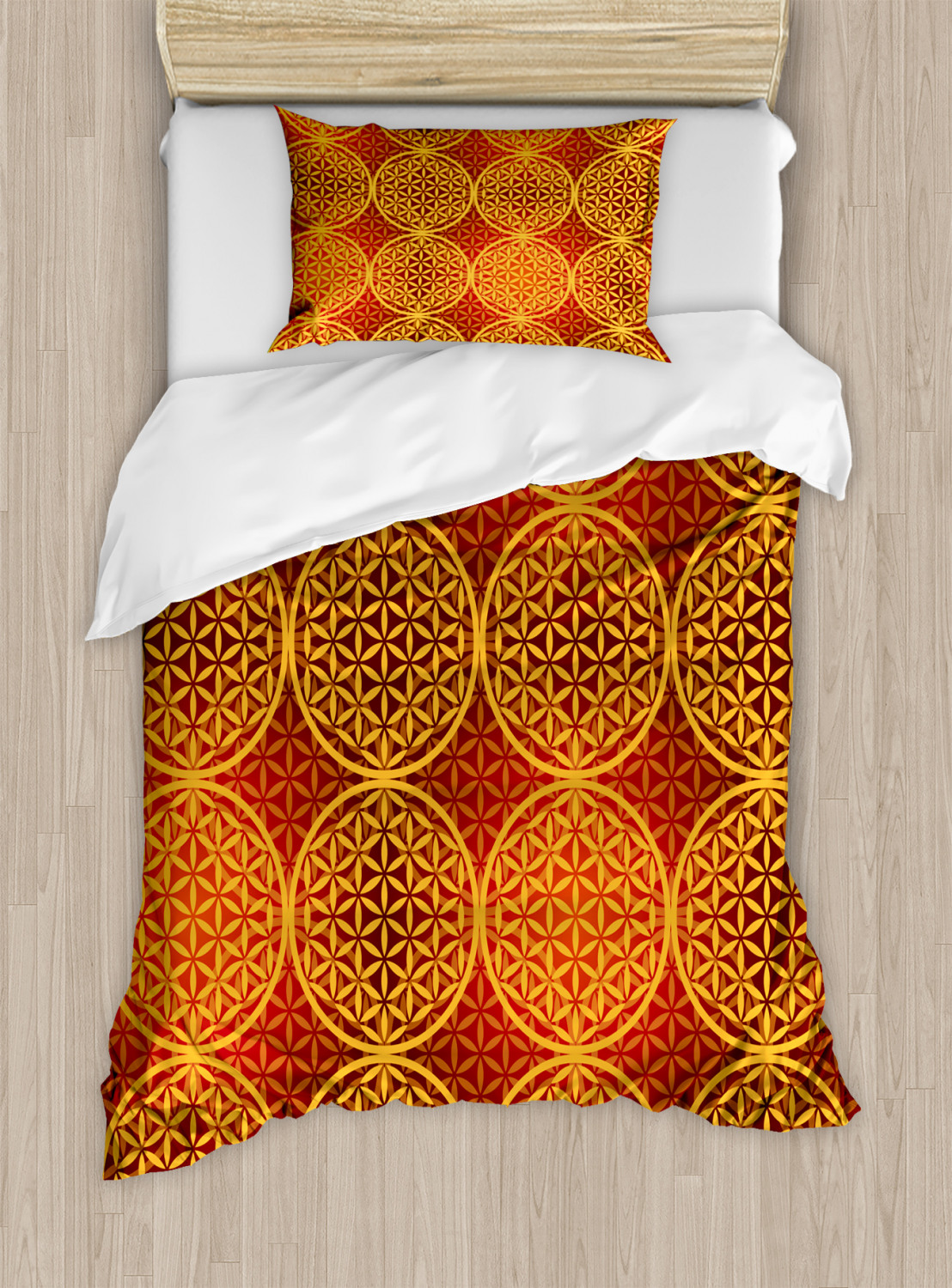 Flower-of-Life-Duvet-Cover-Set-Twin-Queen-King-Sizes-with-Pillow-Shams thumbnail 49