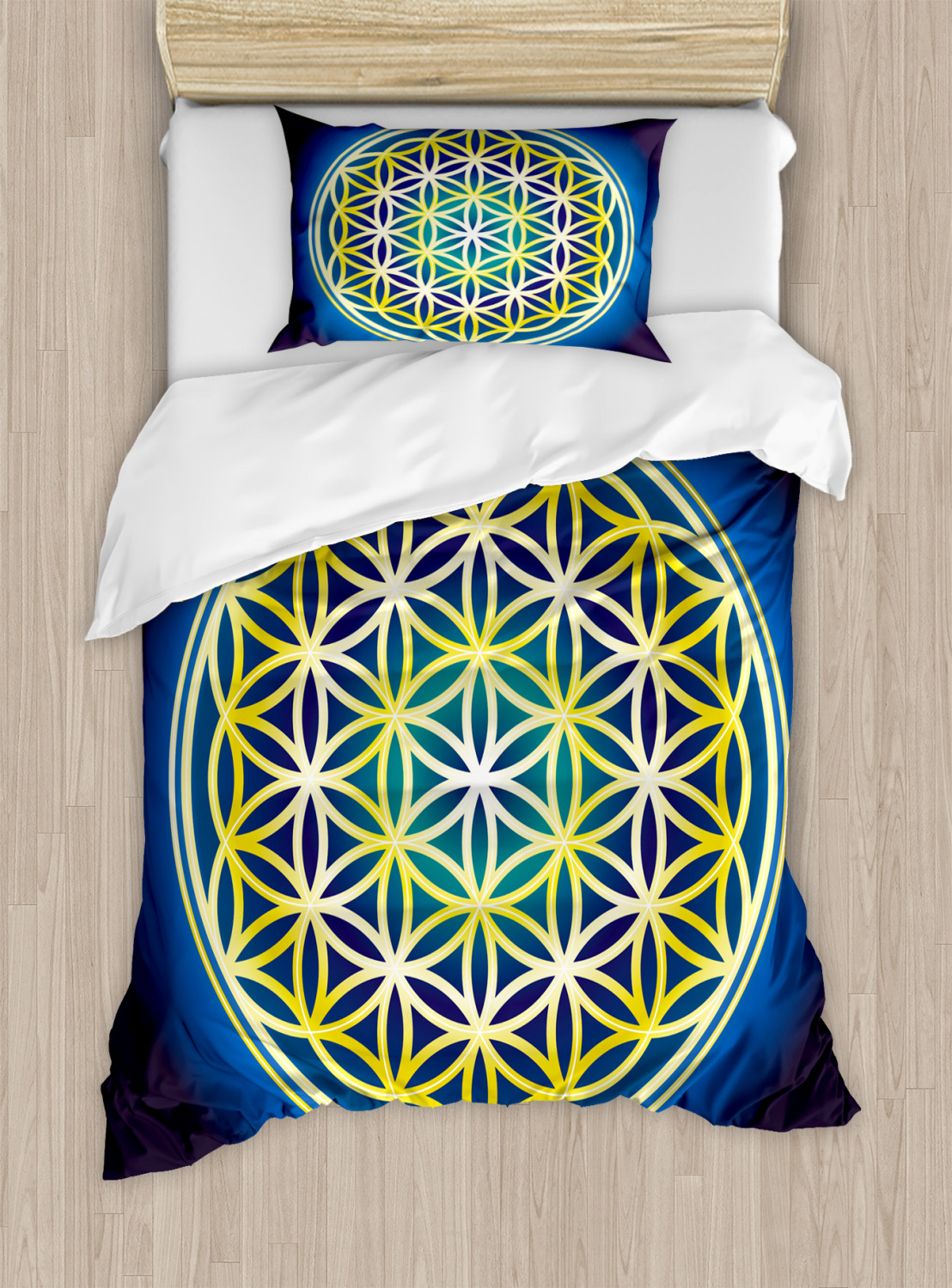 Flower-of-Life-Duvet-Cover-Set-Twin-Queen-King-Sizes-with-Pillow-Shams thumbnail 34