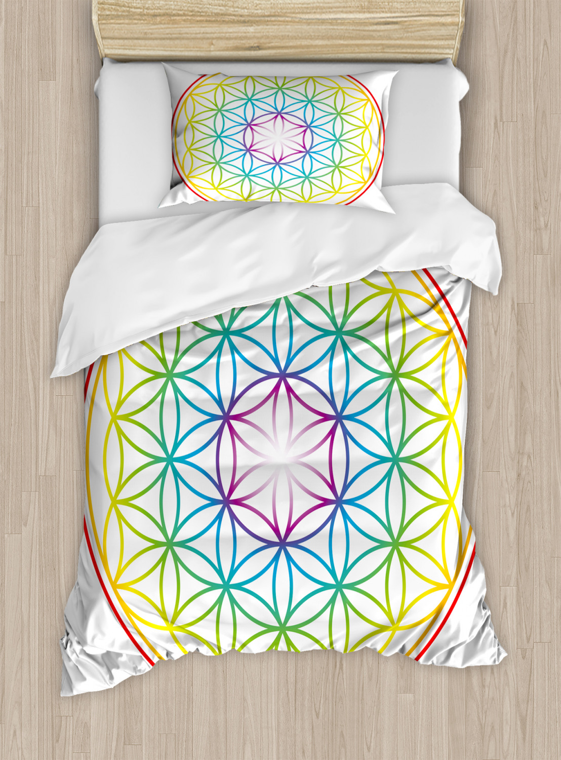 Flower-of-Life-Duvet-Cover-Set-Twin-Queen-King-Sizes-with-Pillow-Shams thumbnail 25