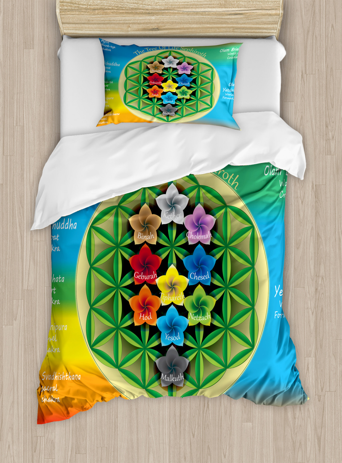 Flower-of-Life-Duvet-Cover-Set-Twin-Queen-King-Sizes-with-Pillow-Shams thumbnail 7