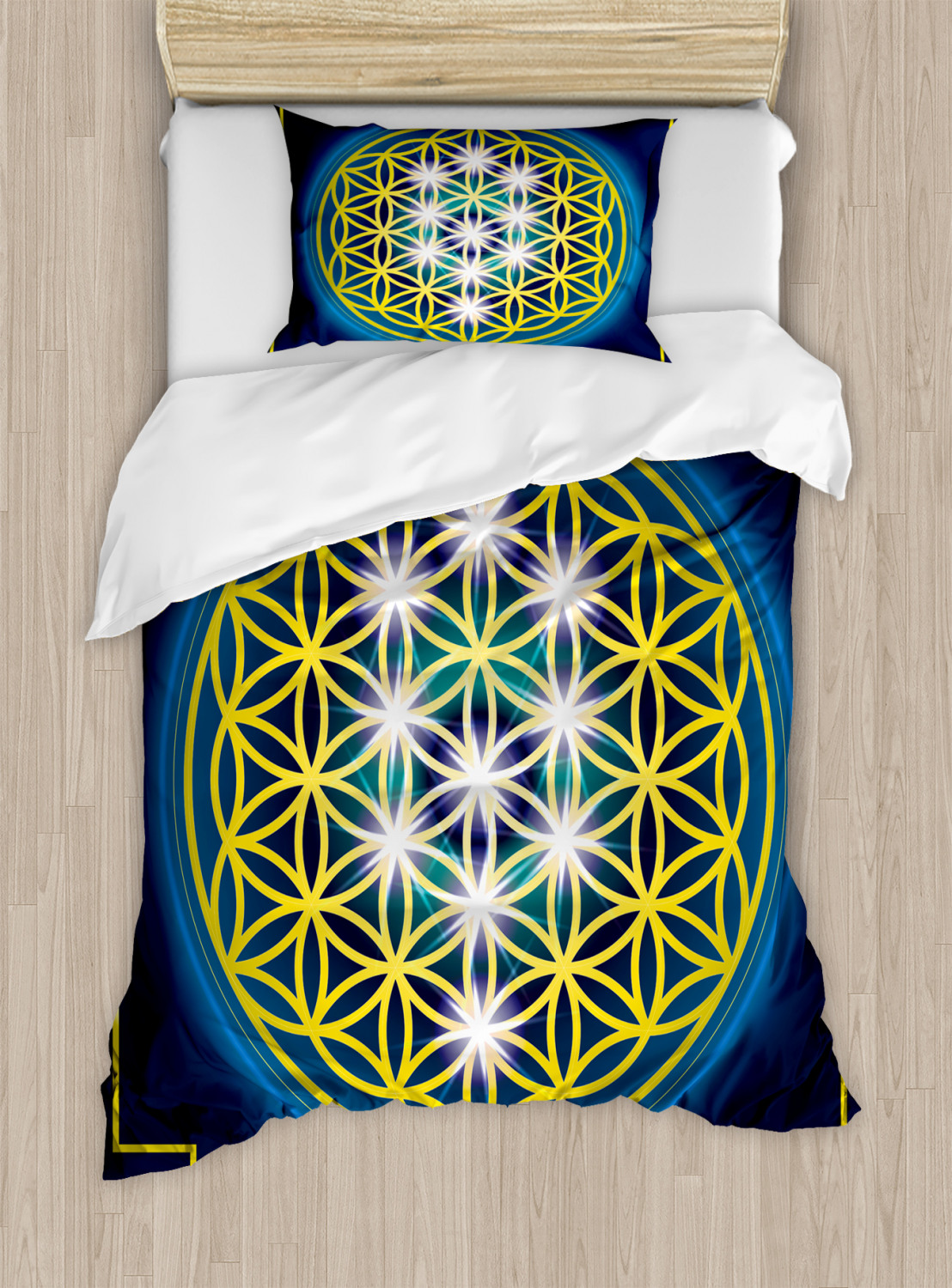 Flower-of-Life-Duvet-Cover-Set-Twin-Queen-King-Sizes-with-Pillow-Shams thumbnail 22