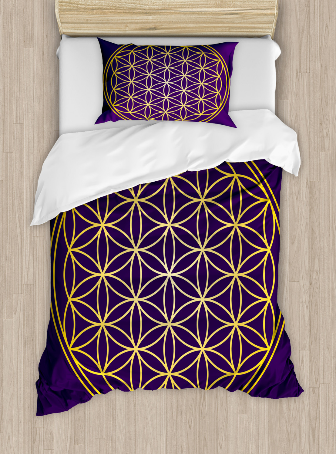 Flower-of-Life-Duvet-Cover-Set-Twin-Queen-King-Sizes-with-Pillow-Shams thumbnail 40