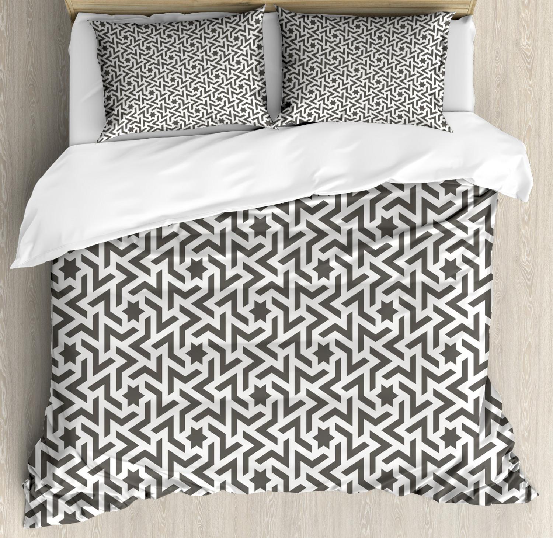Modern Duvet Cover Set with Pillow Shams Ancient Mohawk Tattoo Print