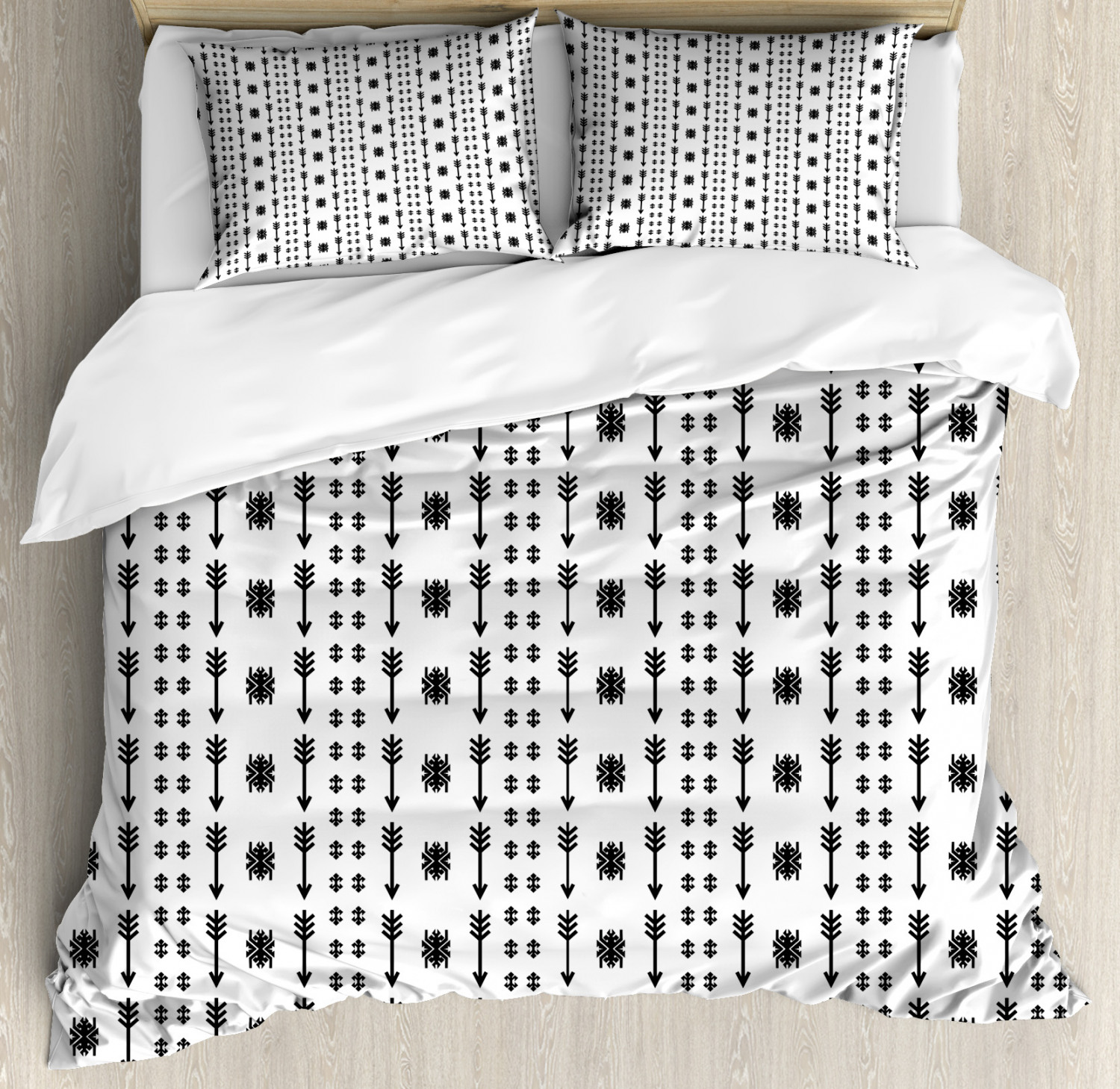 Tribal Duvet Cover Set with Pillow Shams Ethnic Boho Arrows Print