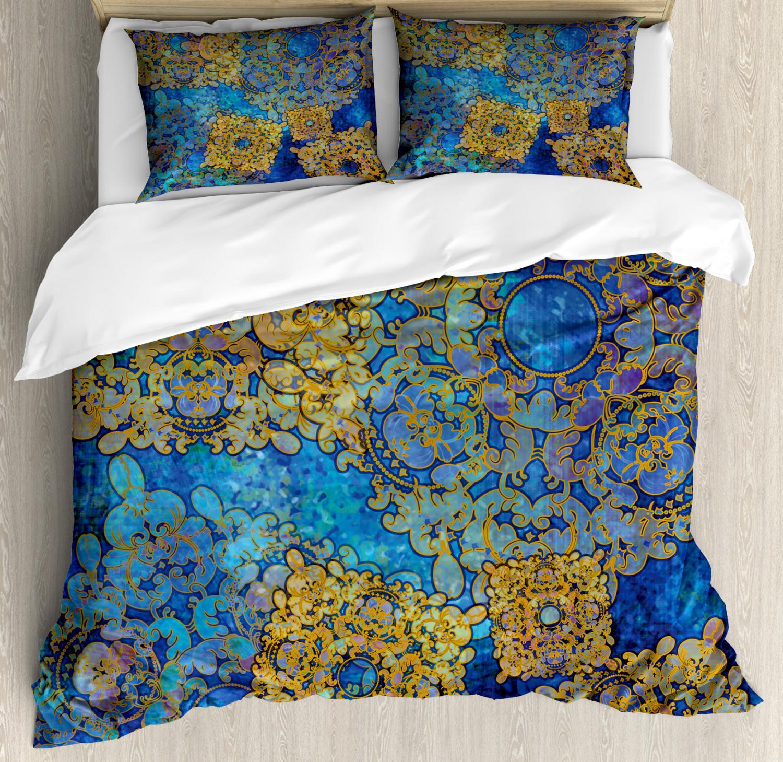 Mgoldccan Duvet Cover Set with Pillow Shams Persian Motif Bohemian Print