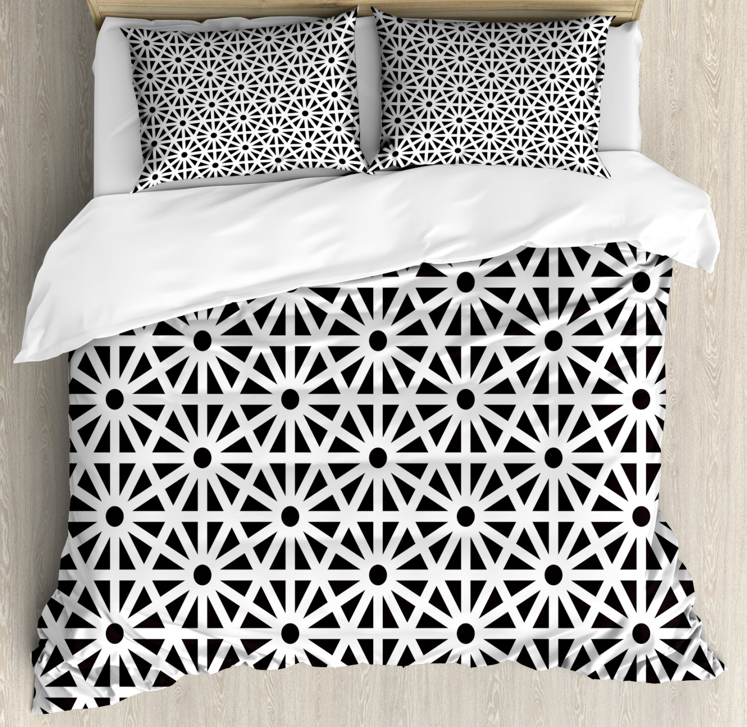Moroccan Duvet Cover Set with Pillow Shams Authentic Old Mot