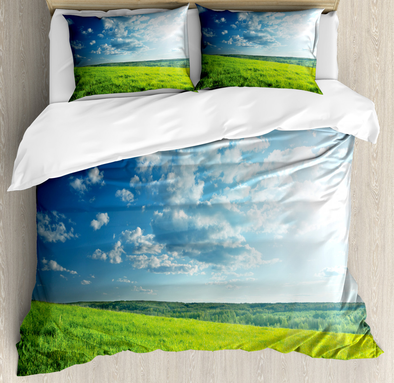 Meadow Valley Cloud Sun Pillow Cover