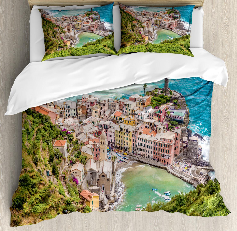 Coastal Parure De Lit Avec Oreiller Shams vernezza Italie impression
