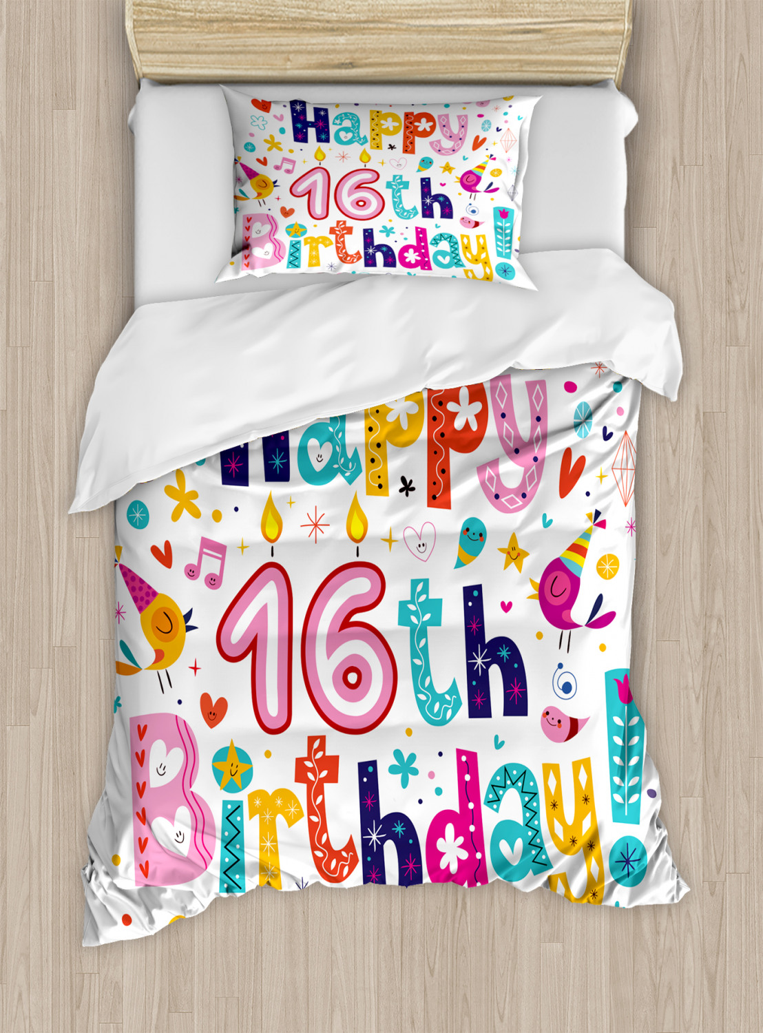 16th Birthday Duvet Cover Set Twin Queen King Sizes With
