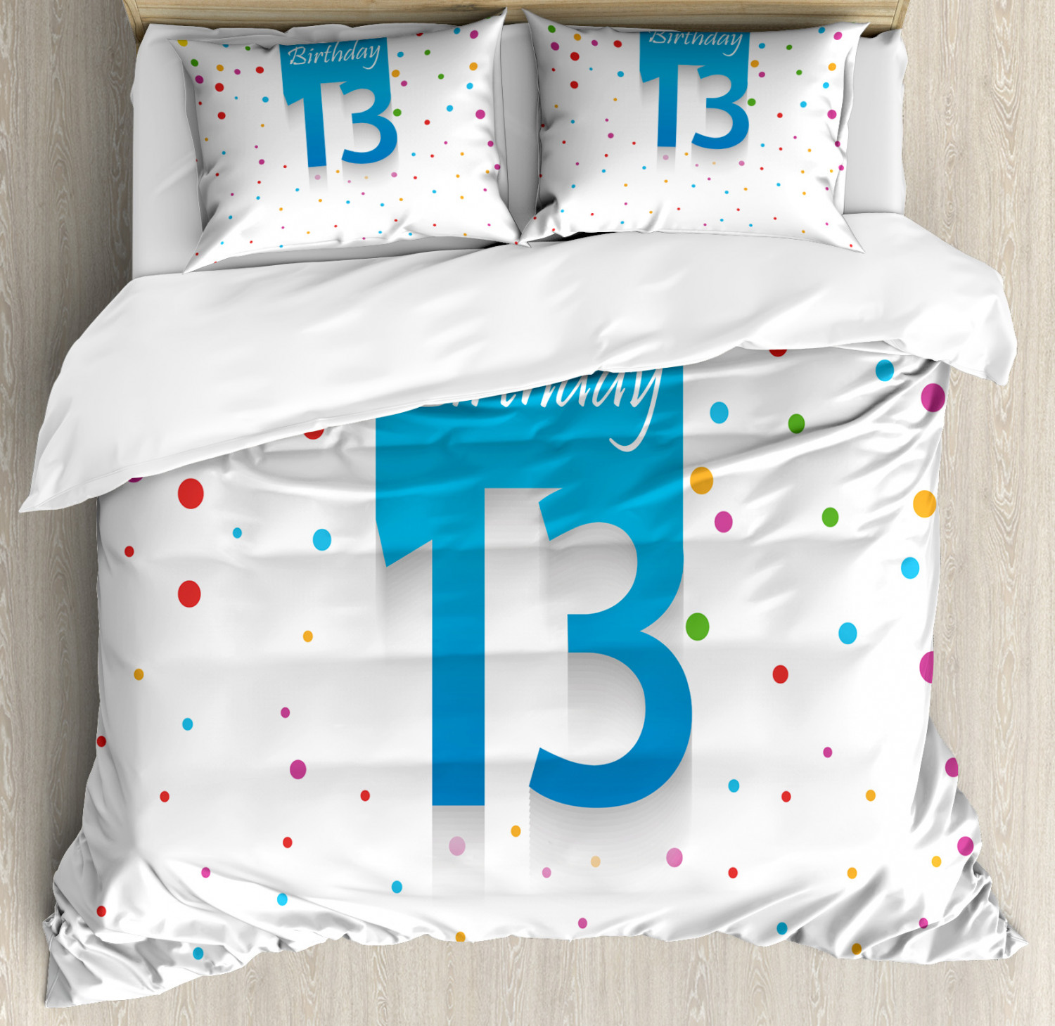 colorful Duvet Cover Set with Pillow Shams colorful Confetti Print