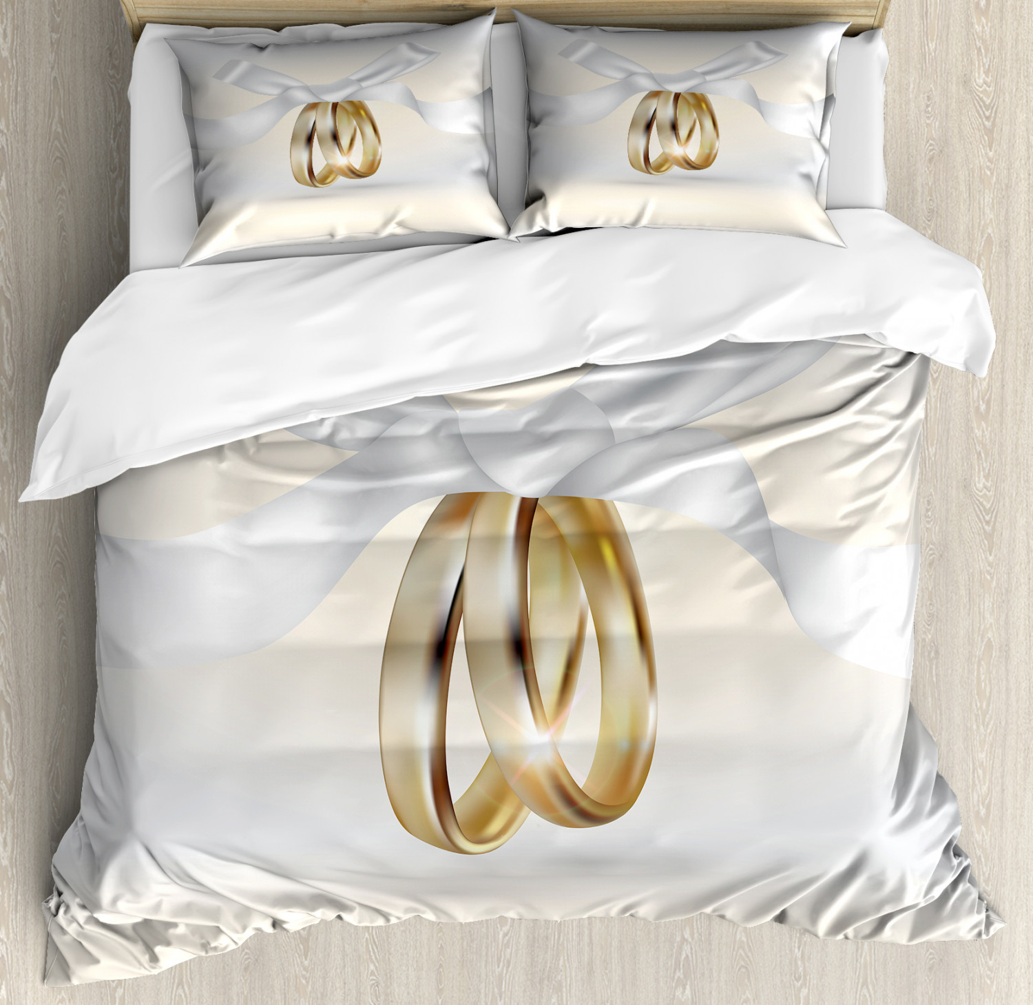 Wedding Pattern Duvet Cover Set Twin Queen King Sizes With
