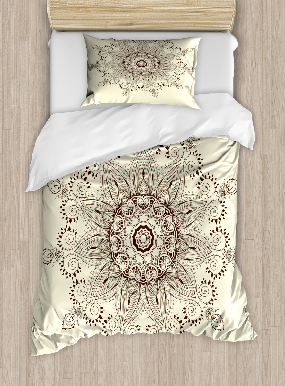 Lotus Flower Duvet Cover Set Twin Queen King Sizes With Pillow Shams