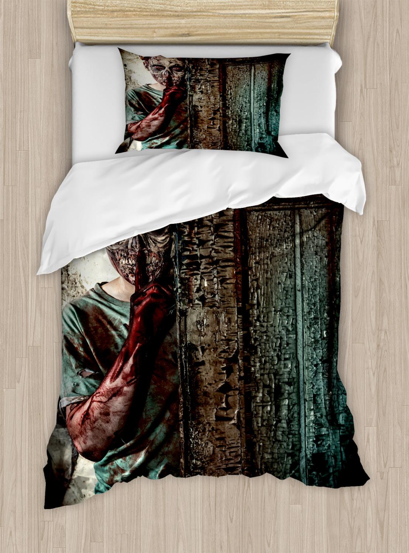 Zombie Duvet Cover Set with Pillow Shams Evil Eyes Monster ...