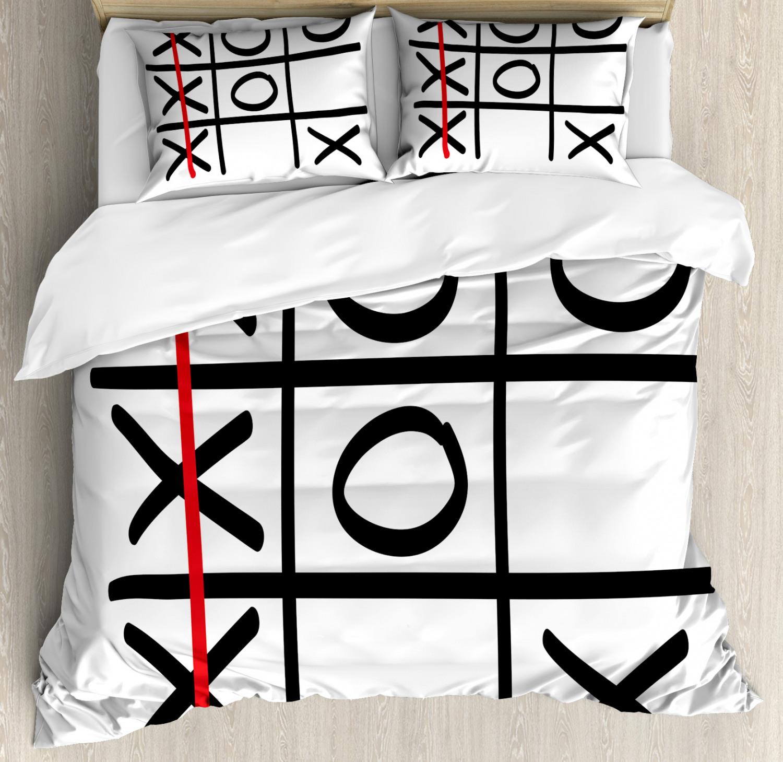 Xo Duvet Cover Set with Pillow Shams Popular Game Theme Pattern Print