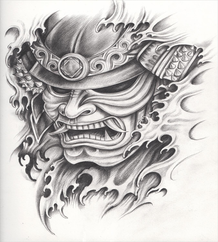 Kabuki Mask Duvet Cover Set With Pillow Shams Warrior Samurai Art Print For Sale Online