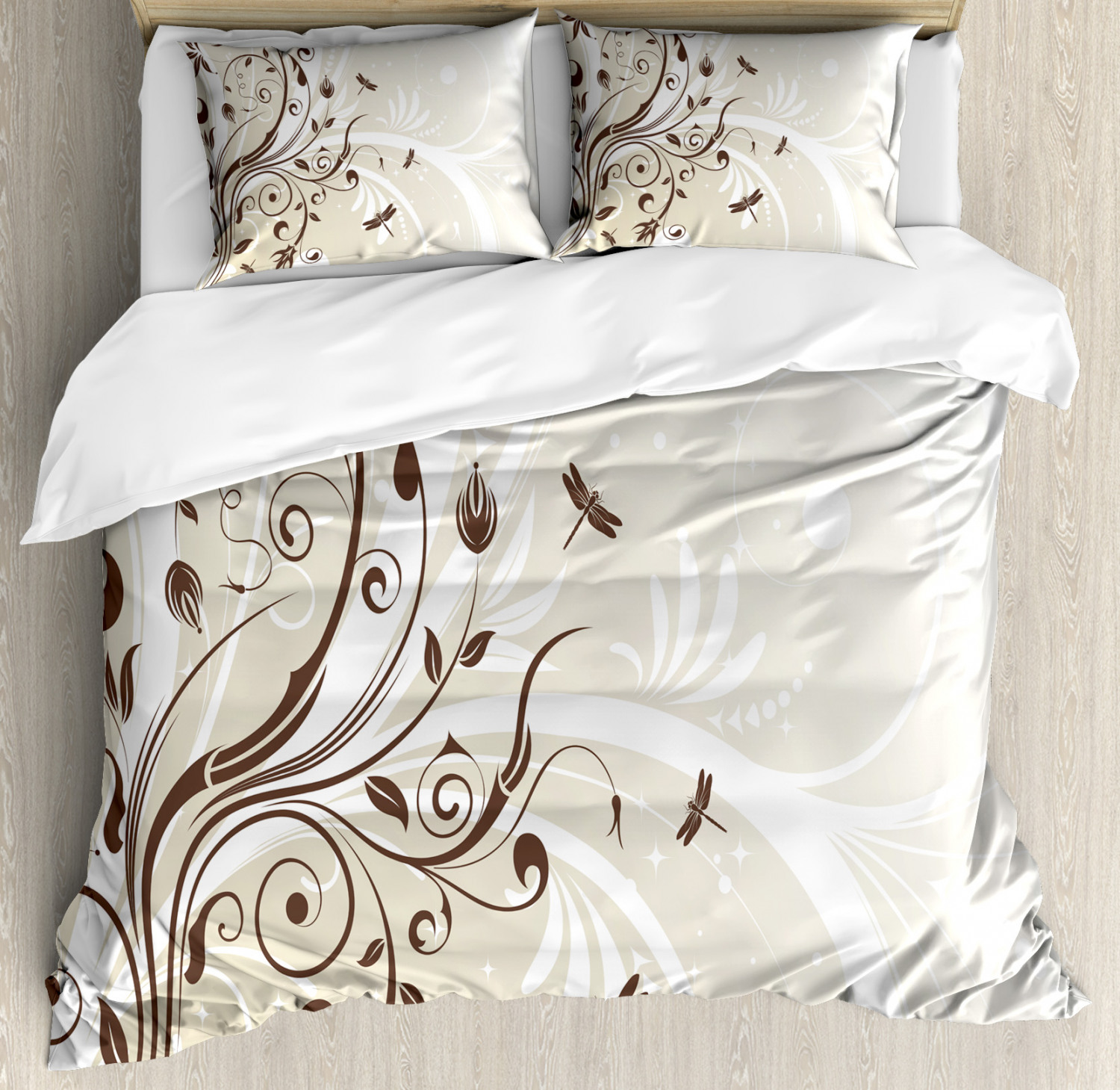 Dragonfly Duvet Cover Set with Pillow Shams Seasonal Flouris