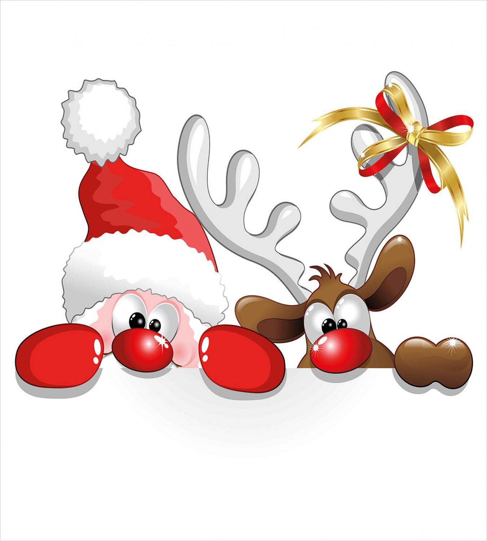 Christmas Duvet Cover Set With Pillow Shams Funny Santa Reindeer