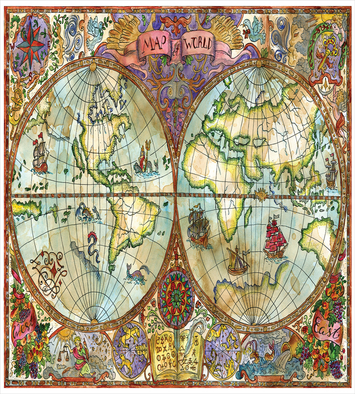 photograph relating to Vintage World Map Printable named Info with regards to Watercolor Duvet Address Preset with Pillow Shams Basic Worldwide Map Print