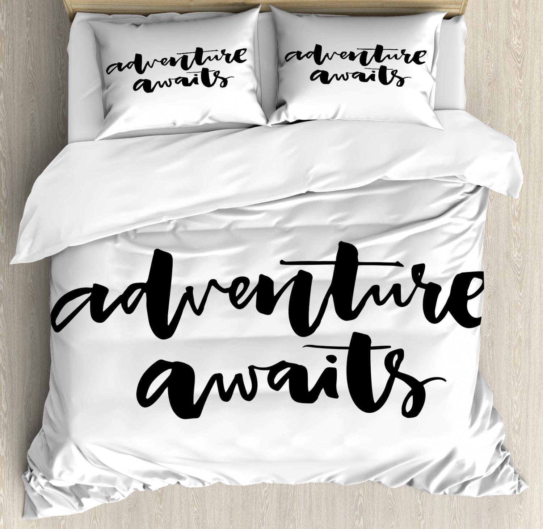 Adventure Duvet Cover Set with Pillow Shams Life Travel Jour