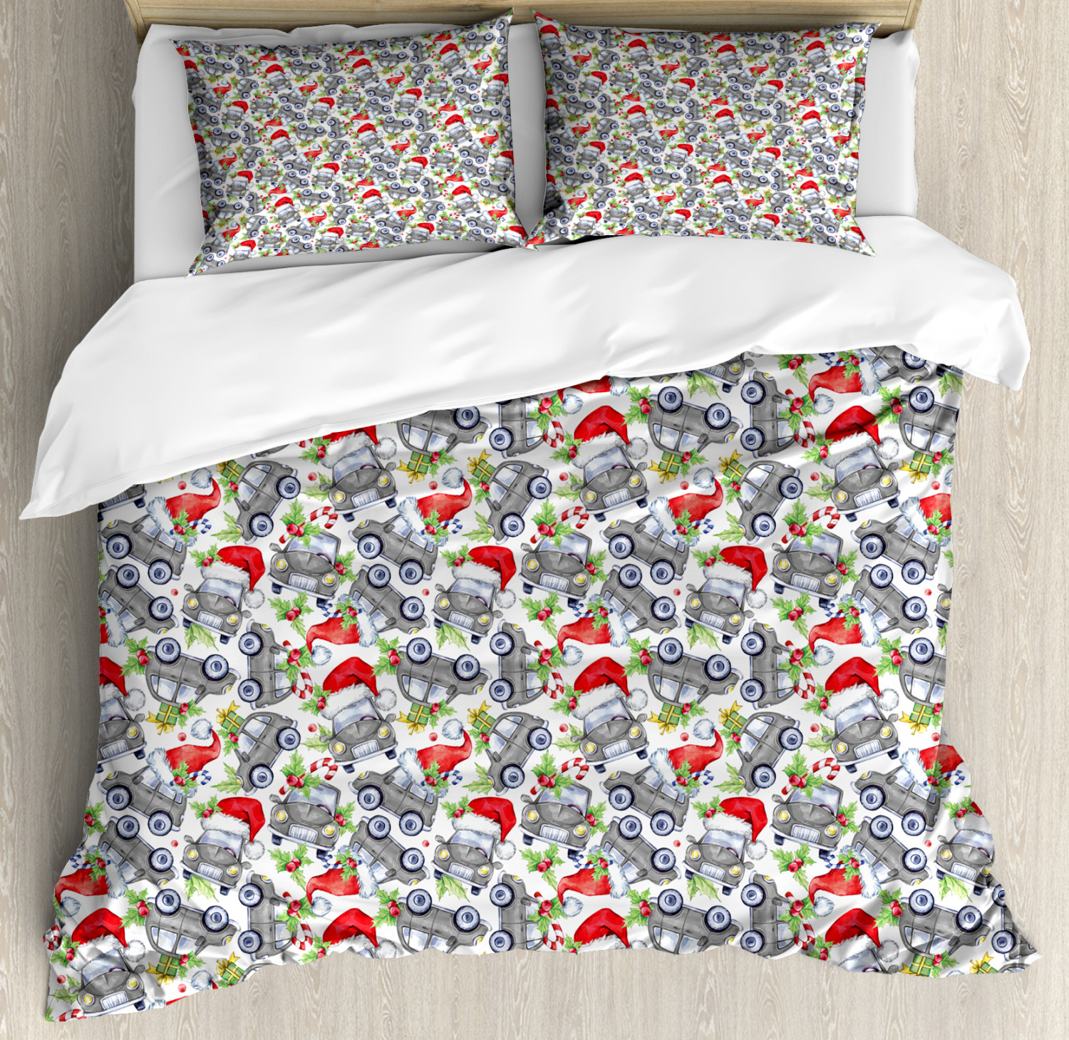 Colorful-Cars-Duvet-Cover-Set-Twin-Queen-King-Sizes-with-Pillow-Shams-Bedding miniature 19